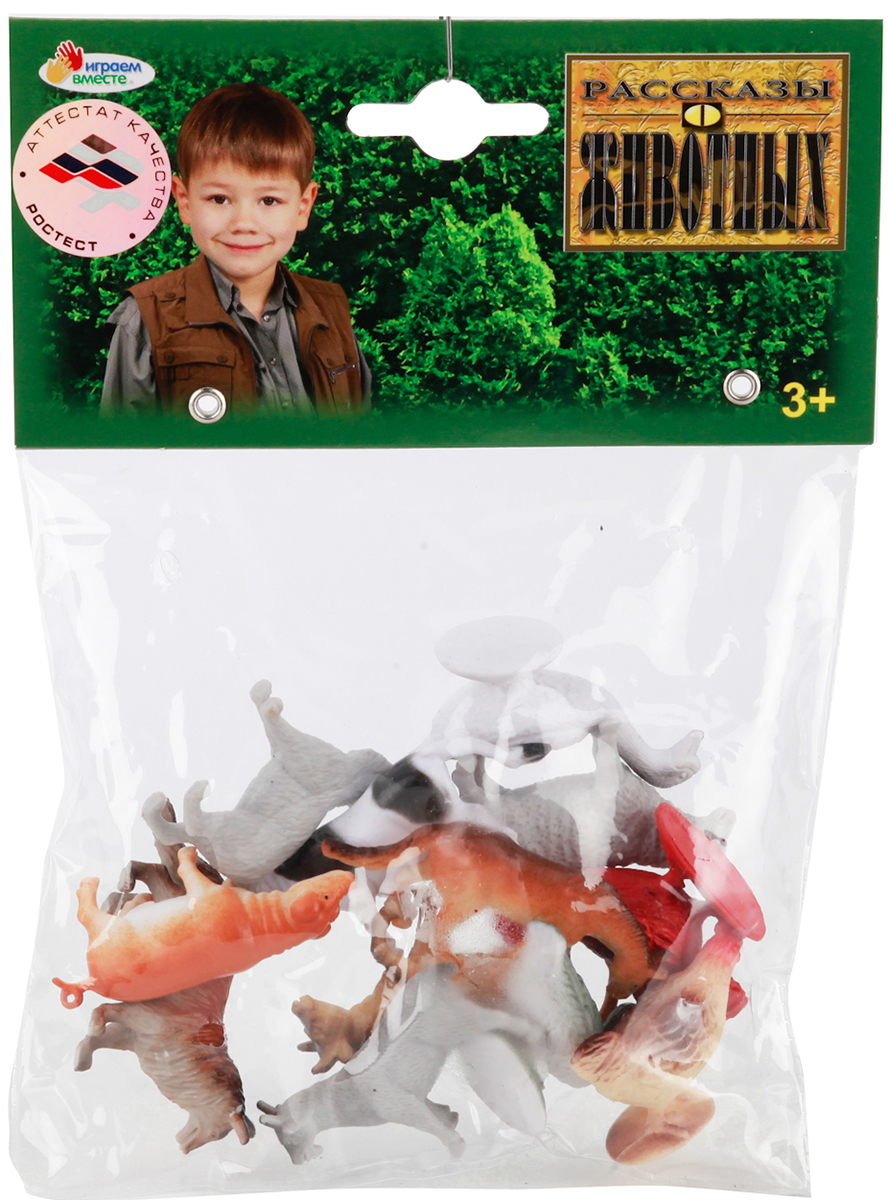 Играем вместе Набор фигурок Домашние животные 5 см 12 шт P9609/12 фигурки игрушки s s домашние животные 5 шт
