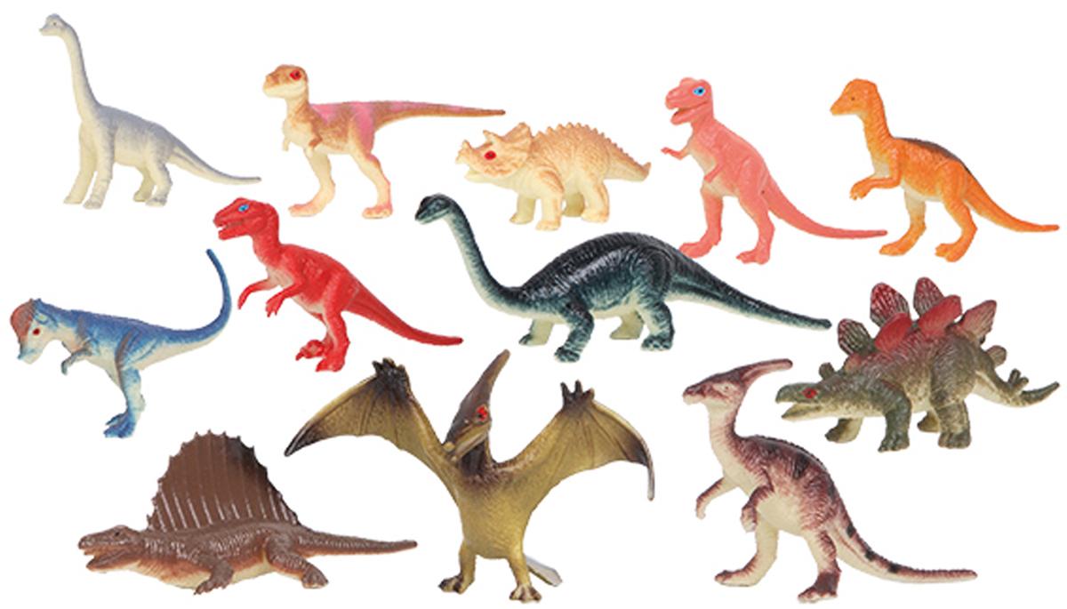 Играем вместе Набор фигурок Динозавры 8 см 12 шт играем вместе набор для лепки сделай фигурку тэнка поезд динозавров