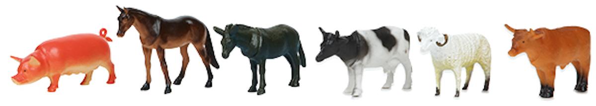 Играем вместе Набор фигурок Домашние животные 10 см 6 шт цена 2017