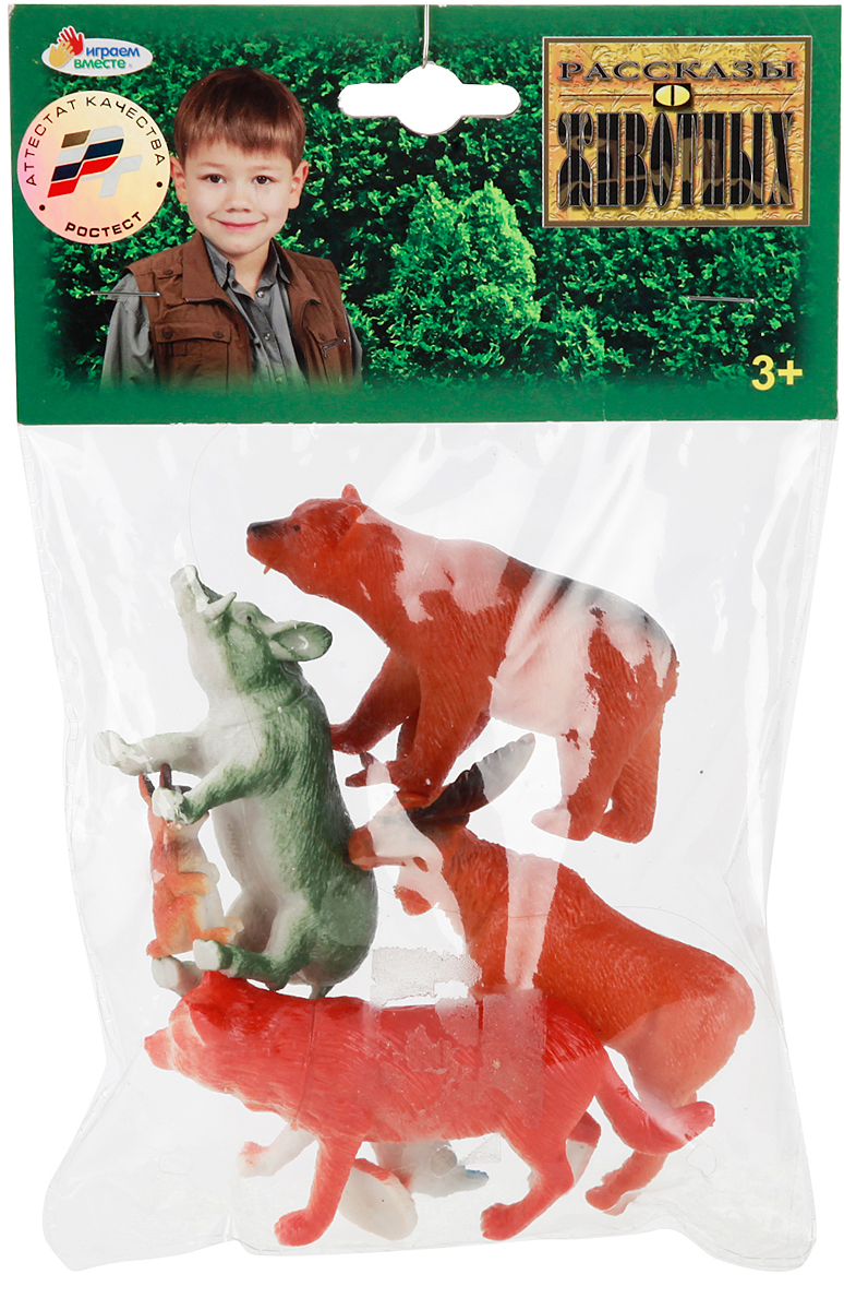 Играем вместе Набор фигурок Лесные животные 6 шт набор фигурок good dinosaur кеттл и раптор 62305