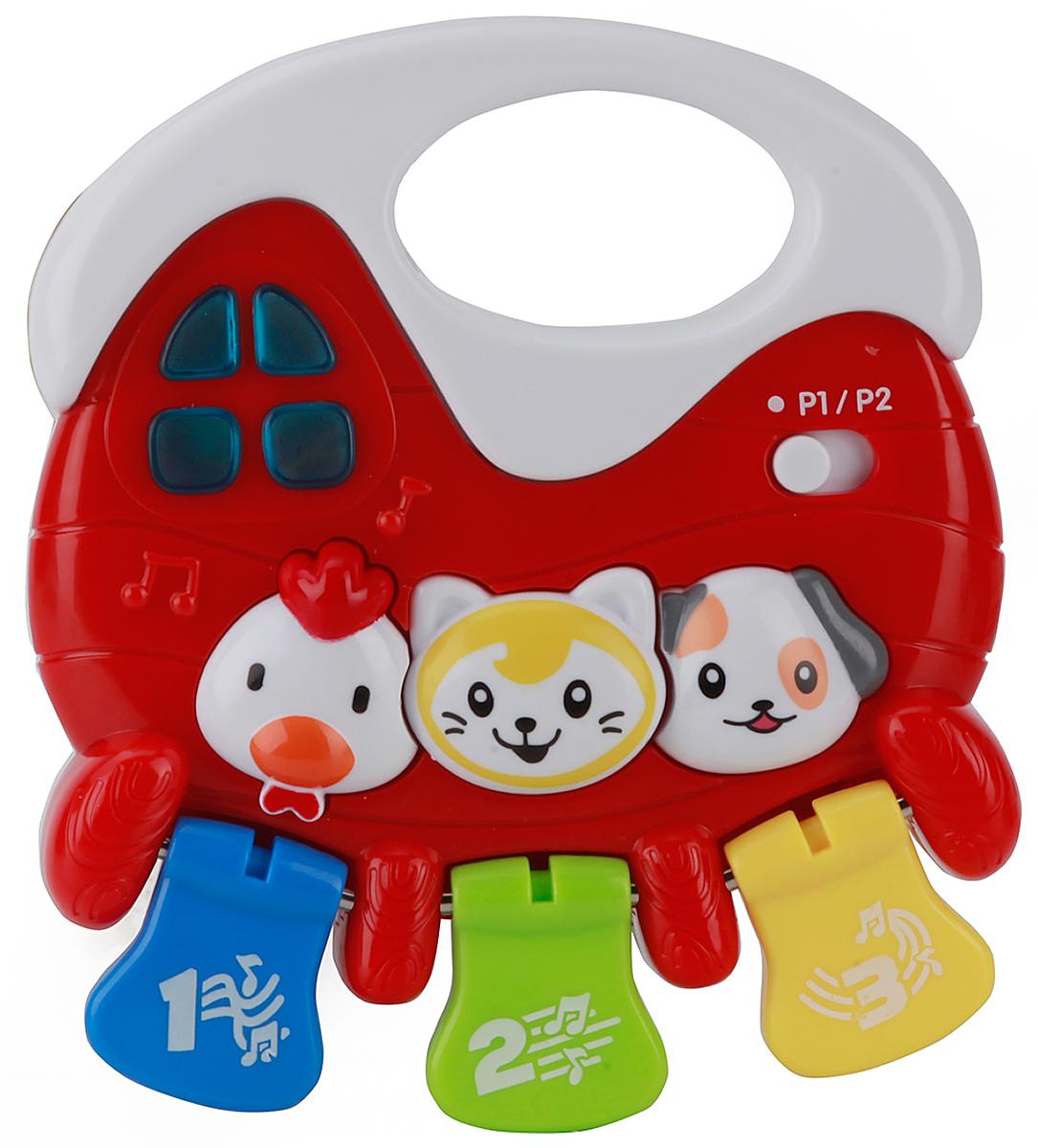 Умка Развивающая игрушка-погремушка озвученная развивающая игрушка умка обучающий домик со стихами с маршака