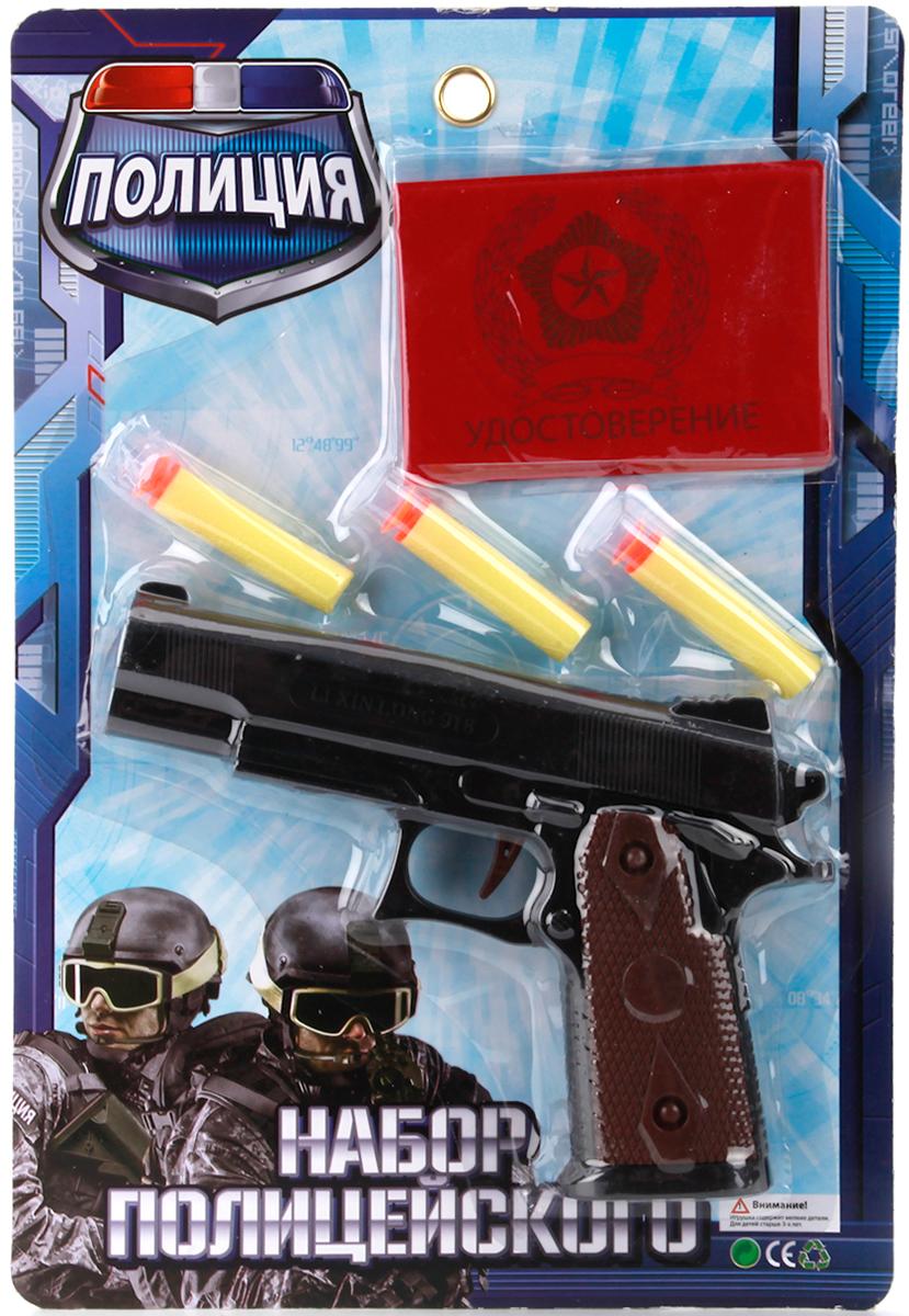 Играем вместе Пистолет Полиция с мягкими патронами игра beboy набор полиция it100555 38x26x3cm