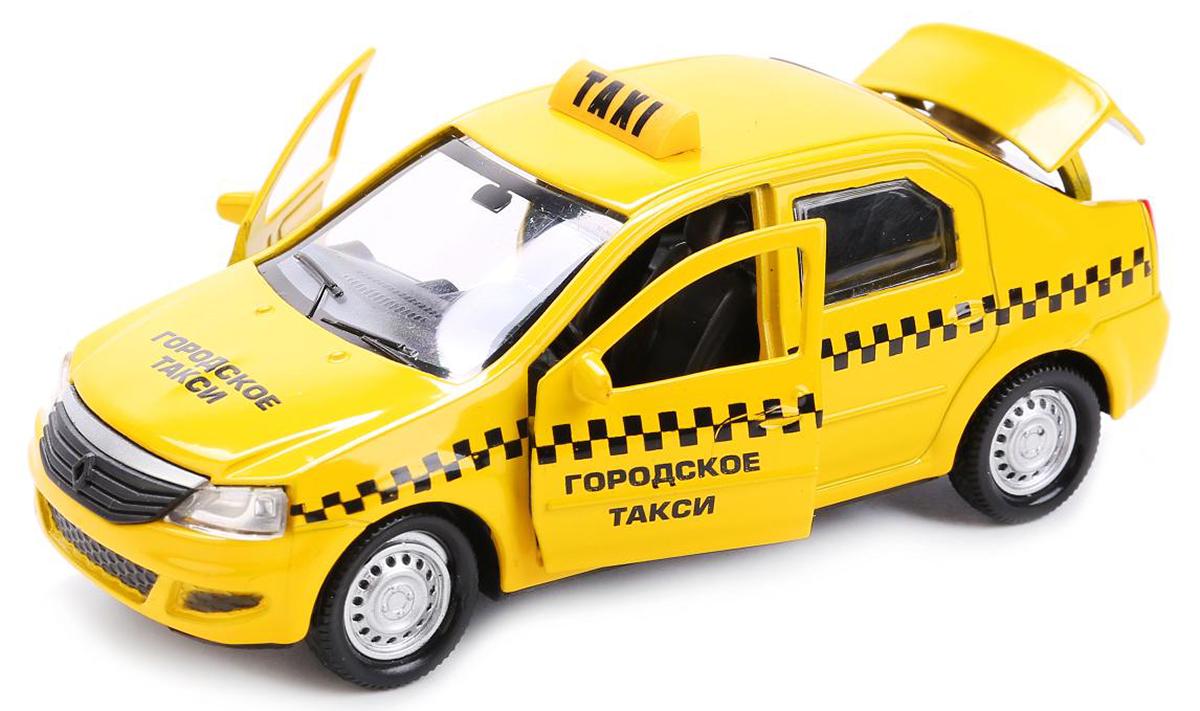 ТехноПарк Модель автомобиля Renault Logan Такси машины drift машина фрикционная такси