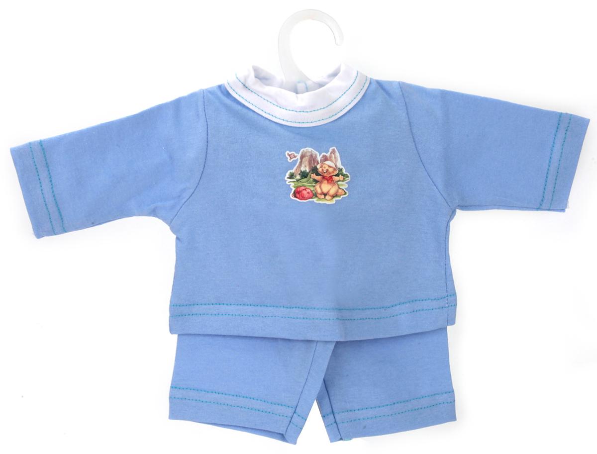 Карапуз Комплект одежды для куклы Кофточка и бриджи сделано в россии одежда