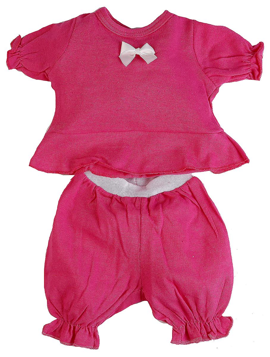 Карапуз Комплект одежды для куклы Кофточка и бриджи OTF-47-RU-HK