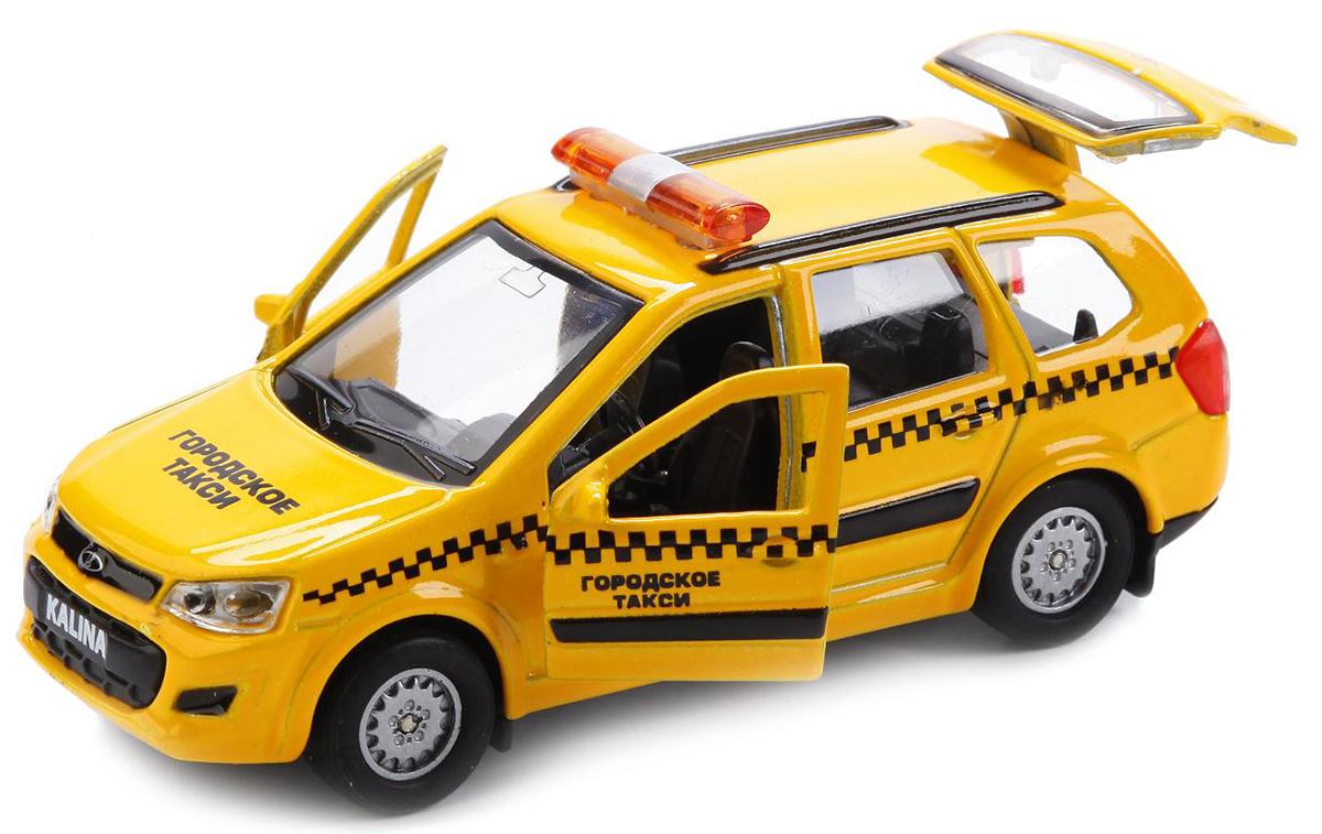 ТехноПарк Модель автомобиля Lada Kalina Cross Такси машины drift машина фрикционная такси