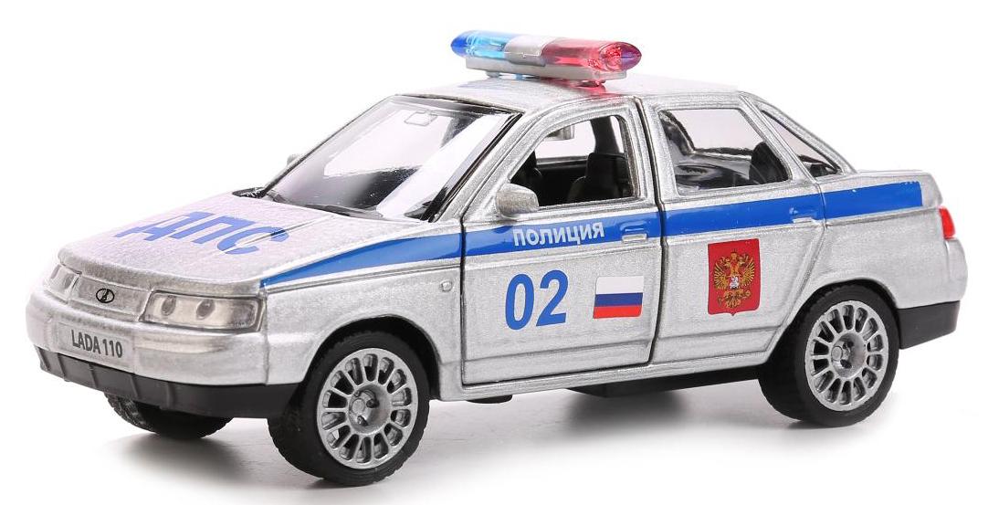 ТехноПарк Модель автомобиля Lada 110 Полиция копию медали1500 лет киеву