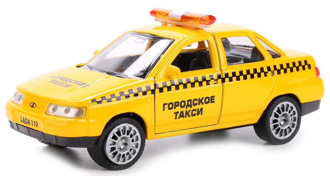 ТехноПарк Модель автомобиля Lada 110 Такси копию медали1500 лет киеву