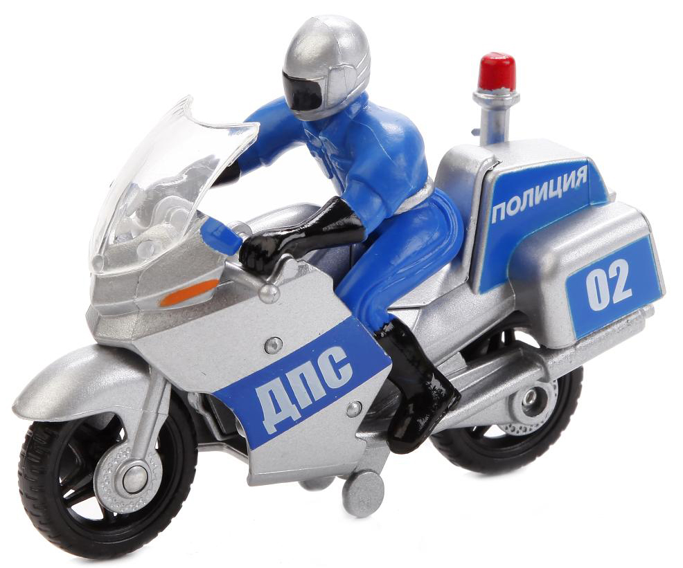 ТехноПарк Мотоцикл Полиция с фигуркой SB-16-48B-P+M-WB