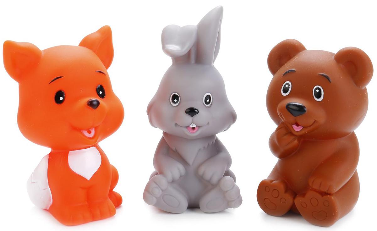Играем вместе Набор игрушек для купания Заяц лиса и мишка игрушки для ванной играем вместе набор для купания маша и медведь