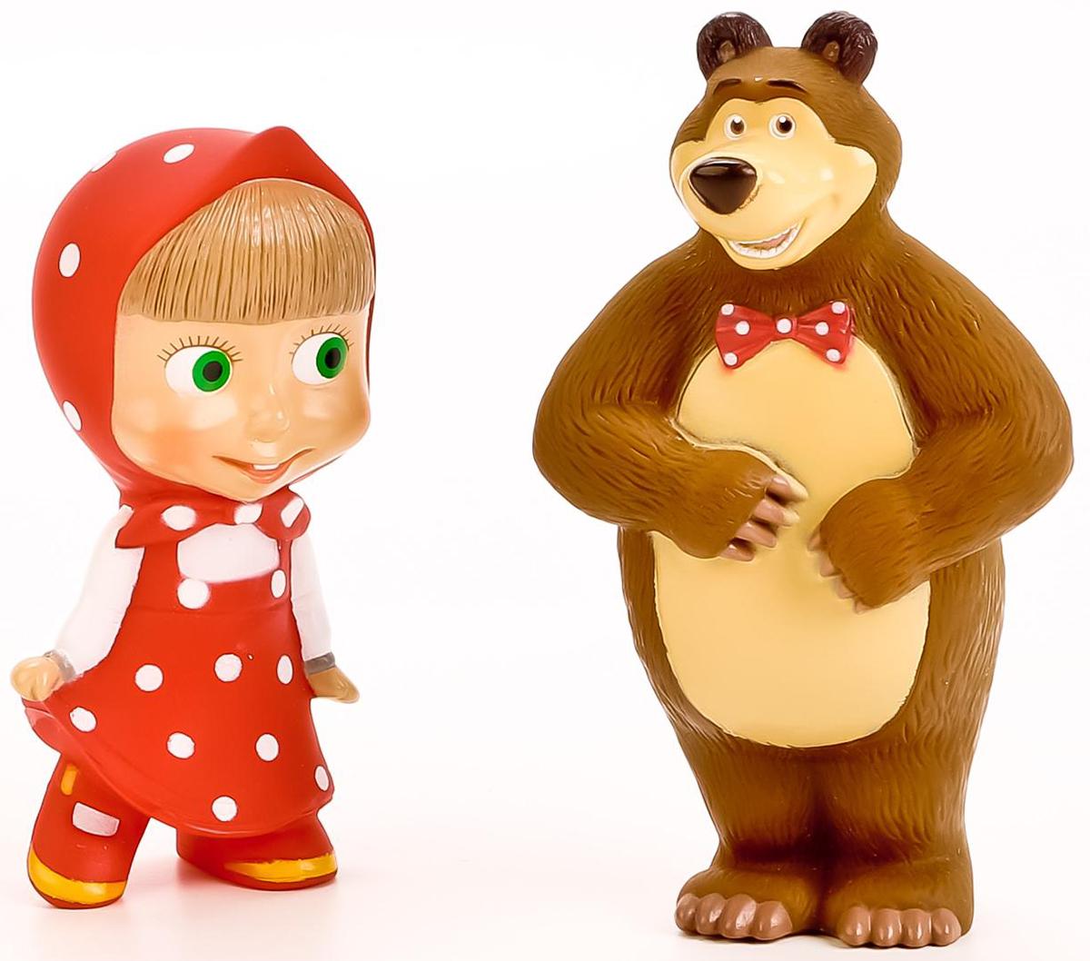 Играем вместе Набор игрушек для купания Маша и Медведь игрушки для ванной играем вместе набор для купания маша и медведь