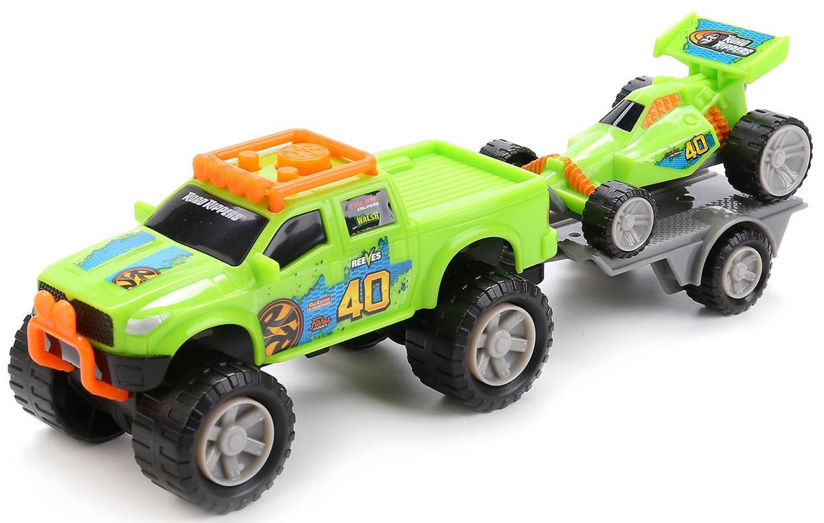Toystate Машина озвученная с квадроциклом на прицепе радиоуправляемые игрушки toystate машина toystate