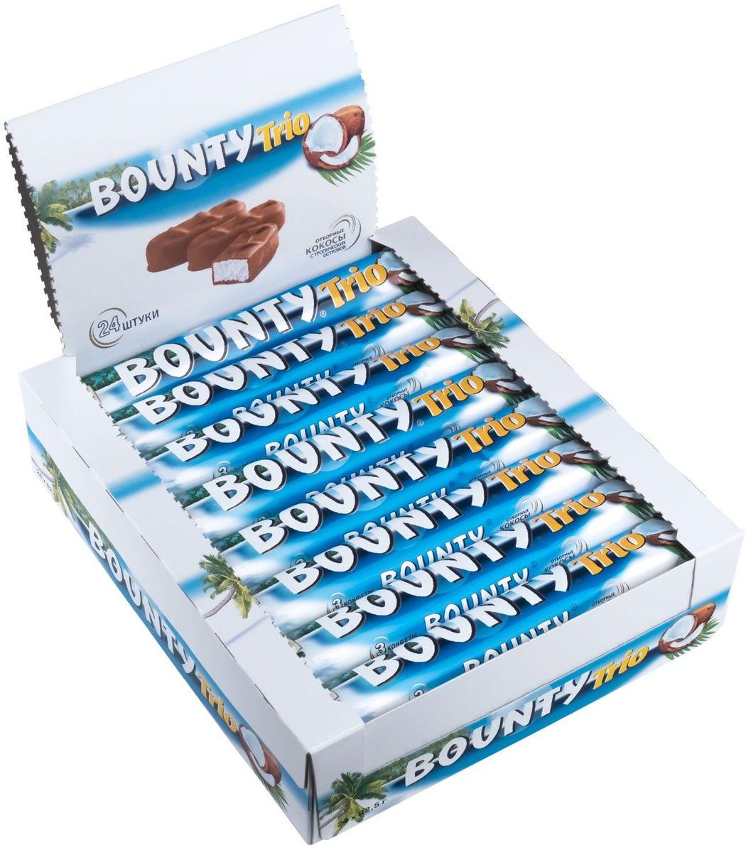 Bounty Trio шоколадный батончик, 24 шт по 82,5 г energon protein шоколадный чизкейк батончик злаковый 60 г