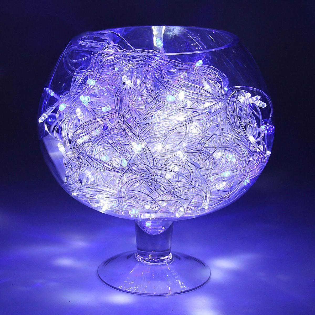 Гирлянда светодиодная Luazon Метраж, уличная, моргает, 200 ламп, 220 V, 20 м, цвет: синий. 10800141080014Светодиодные гирлянды, ленты и т.д. — это отличный вариант для новогоднего оформления интерьера или фасада. С их помощью помещение любого размера можно превратить в праздничный зал, а внешние элементы зданий, украшенные ими, мгновенно станут напоминать очертания сказочного дворца. Такие украшения создают ауру предвкушения чуда. Деревья, фасады, витрины, окна и арки будто специально созданы, чтобы вы украсили их светящимися нитями.