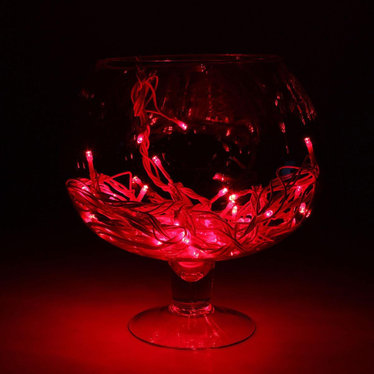 Гирлянда светодиодная Luazon Метраж, уличная, 50 ламп, 220 V, 5 м, цвет: красный. 1080021