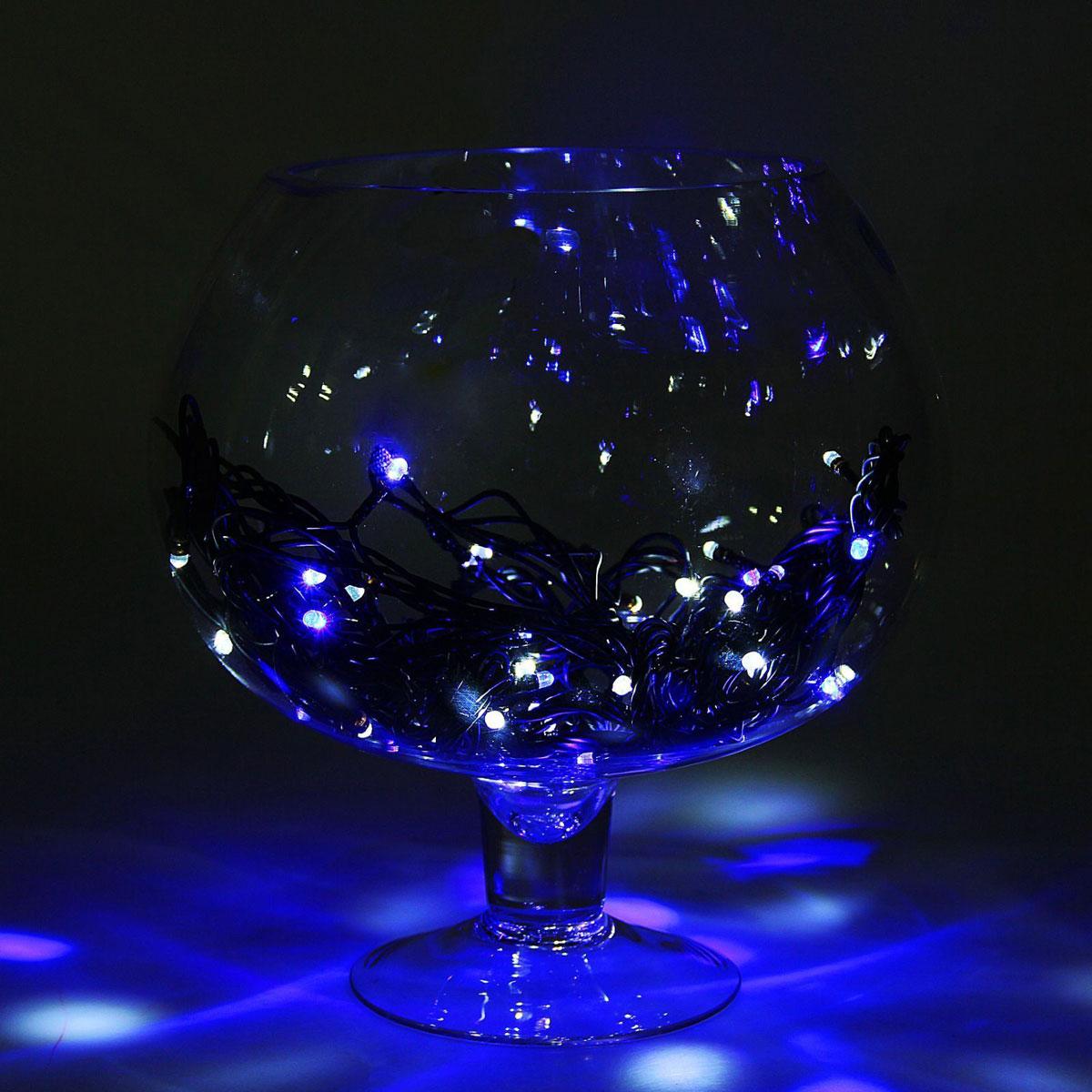 Гирлянда светодиодная Luazon Метраж, уличная, 100 ламп, 220 V, 10 м, цвет: синий. 10800301080030Светодиодные гирлянды, ленты и т.д. — это отличный вариант для новогоднего оформления интерьера или фасада. С их помощью помещение любого размера можно превратить в праздничный зал, а внешние элементы зданий, украшенные ими, мгновенно станут напоминать очертания сказочного дворца. Такие украшения создают ауру предвкушения чуда. Деревья, фасады, витрины, окна и арки будто специально созданы, чтобы вы украсили их светящимися нитями.