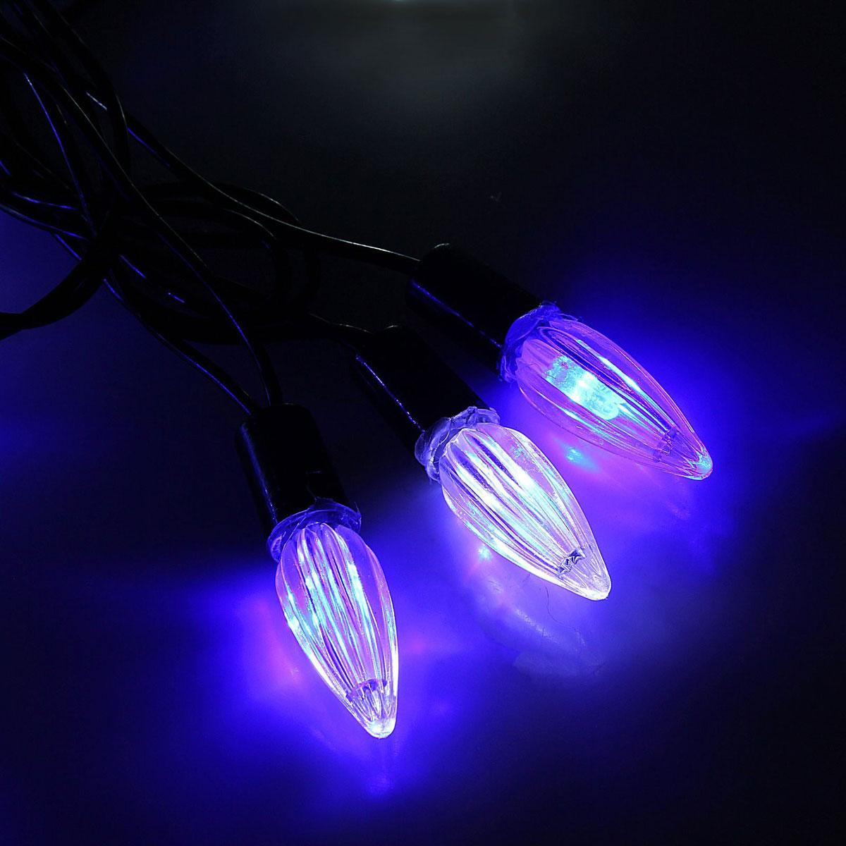 Гирлянда светодиодная Luazon Метраж. Свечки, уличная с насадкой, моргает, 40 ламп, 220 V, 5 м, цвет: синий. 10800501080050Светодиодные гирлянды, ленты и т.д. — это отличный вариант для новогоднего оформления интерьера или фасада. С их помощью помещение любого размера можно превратить в праздничный зал, а внешние элементы зданий, украшенные ими, мгновенно станут напоминать очертания сказочного дворца. Такие украшения создают ауру предвкушения чуда. Деревья, фасады, витрины, окна и арки будто специально созданы, чтобы вы украсили их светящимися нитями.