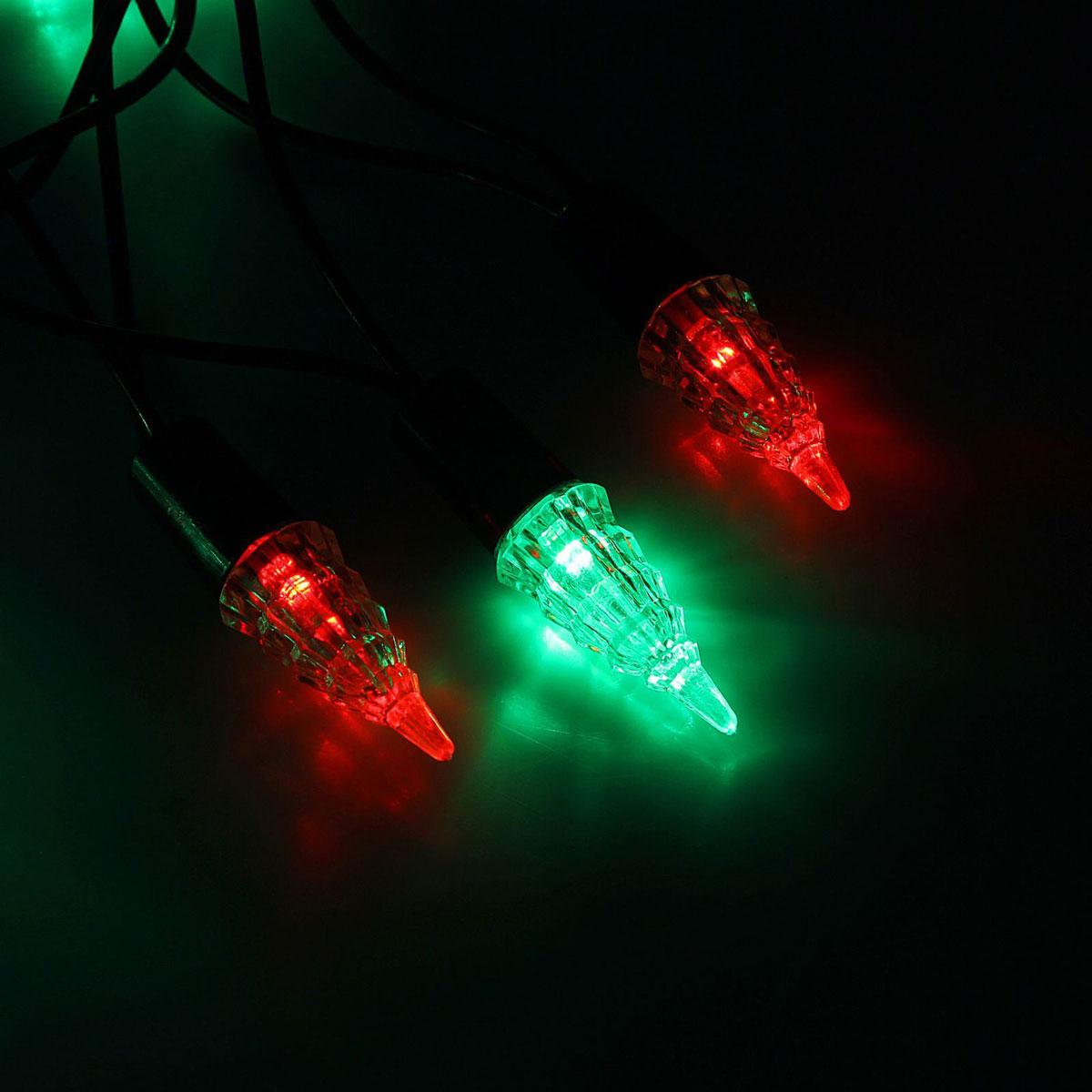 Гирлянда светодиодная Luazon Метраж. Конус, уличная с насадкой, моргает, 40 ламп, 220 V, 5 м, цвет: мультиколор. 10800531080076Светодиодные гирлянды, ленты и т.д. — это отличный вариант для новогоднего оформления интерьера или фасада. С их помощью помещение любого размера можно превратить в праздничный зал, а внешние элементы зданий, украшенные ими, мгновенно станут напоминать очертания сказочного дворца. Такие украшения создают ауру предвкушения чуда. Деревья, фасады, витрины, окна и арки будто специально созданы, чтобы вы украсили их светящимися нитями.