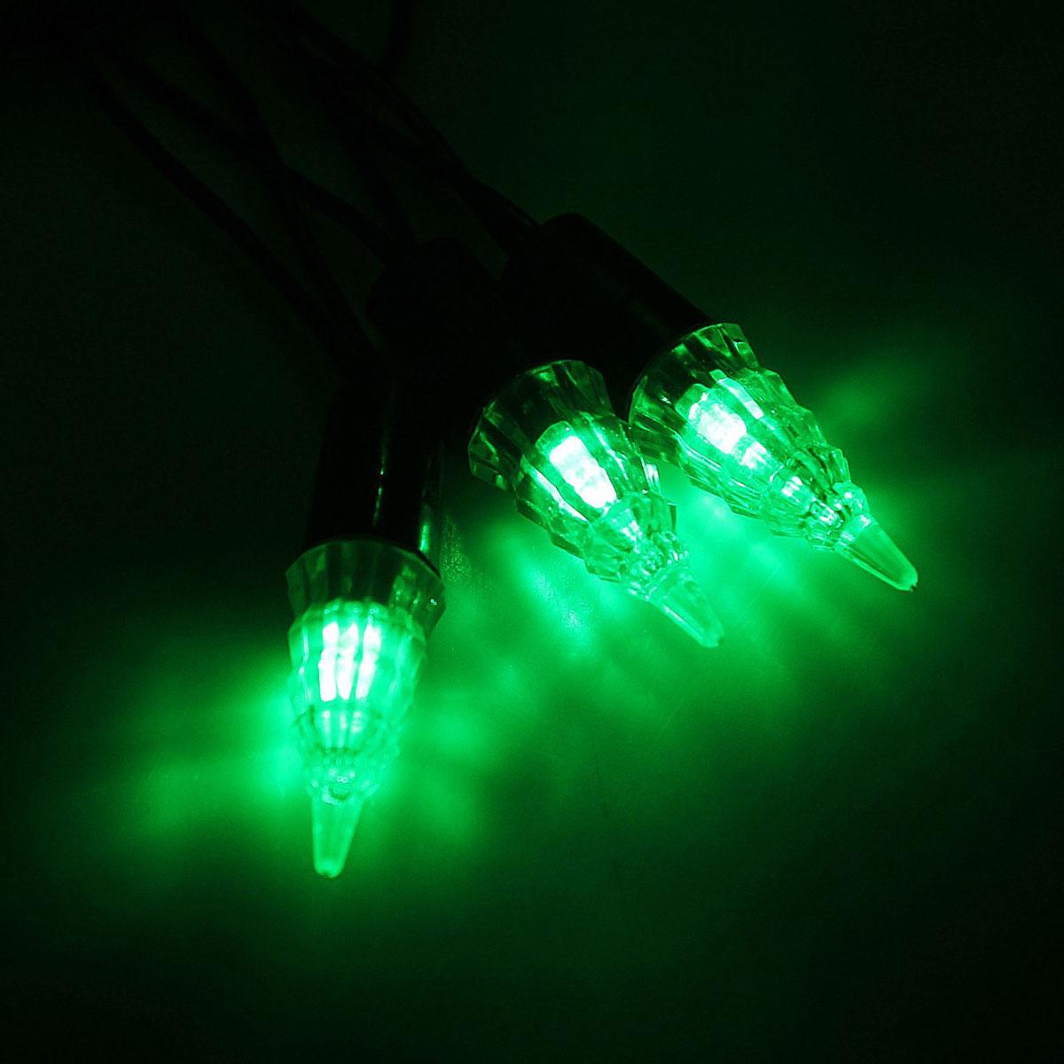 Гирлянда светодиодная Luazon Метраж. Конус, уличная с насадкой, фиксинг, 40 ламп, 220 V, 5 м, цвет: зеленый. 10800571080057Светодиодные гирлянды, ленты и т.д. — это отличный вариант для новогоднего оформления интерьера или фасада. С их помощью помещение любого размера можно превратить в праздничный зал, а внешние элементы зданий, украшенные ими, мгновенно станут напоминать очертания сказочного дворца. Такие украшения создают ауру предвкушения чуда. Деревья, фасады, витрины, окна и арки будто специально созданы, чтобы вы украсили их светящимися нитями.