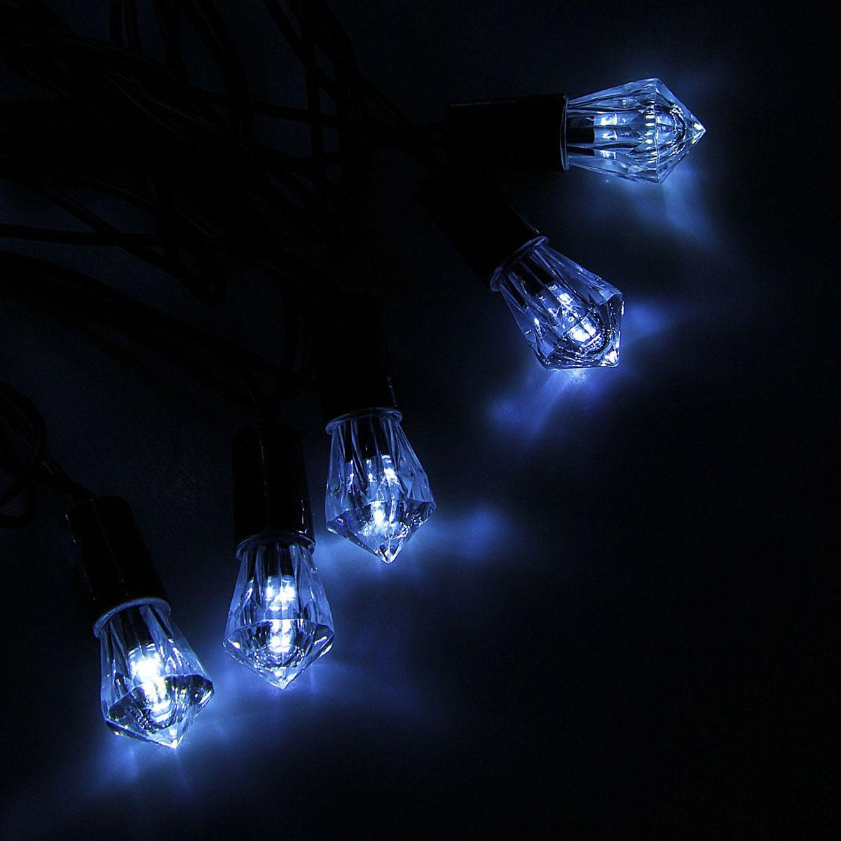 Гирлянда светодиодная Luazon Метраж. Хрусталь, уличная с насадкой, фиксинг, 40 ламп, 220 V, 5 м, цвет: белый. 10800631080063Светодиодные гирлянды, ленты и т.д. — это отличный вариант для новогоднего оформления интерьера или фасада. С их помощью помещение любого размера можно превратить в праздничный зал, а внешние элементы зданий, украшенные ими, мгновенно станут напоминать очертания сказочного дворца. Такие украшения создают ауру предвкушения чуда. Деревья, фасады, витрины, окна и арки будто специально созданы, чтобы вы украсили их светящимися нитями.
