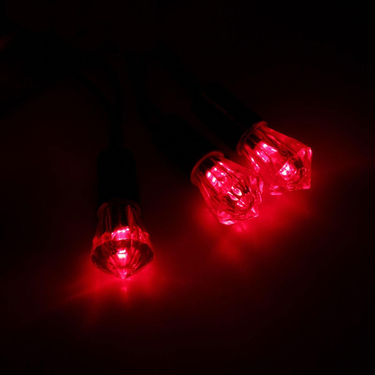 Гирлянда светодиодная Luazon Метраж. Хрусталь, уличная с насадкой, фиксинг, 40 ламп, 220 V, 5 м, цвет: красный. 10800651080065Светодиодные гирлянды, ленты и т.д. — это отличный вариант для новогоднего оформления интерьера или фасада. С их помощью помещение любого размера можно превратить в праздничный зал, а внешние элементы зданий, украшенные ими, мгновенно станут напоминать очертания сказочного дворца. Такие украшения создают ауру предвкушения чуда. Деревья, фасады, витрины, окна и арки будто специально созданы, чтобы вы украсили их светящимися нитями.