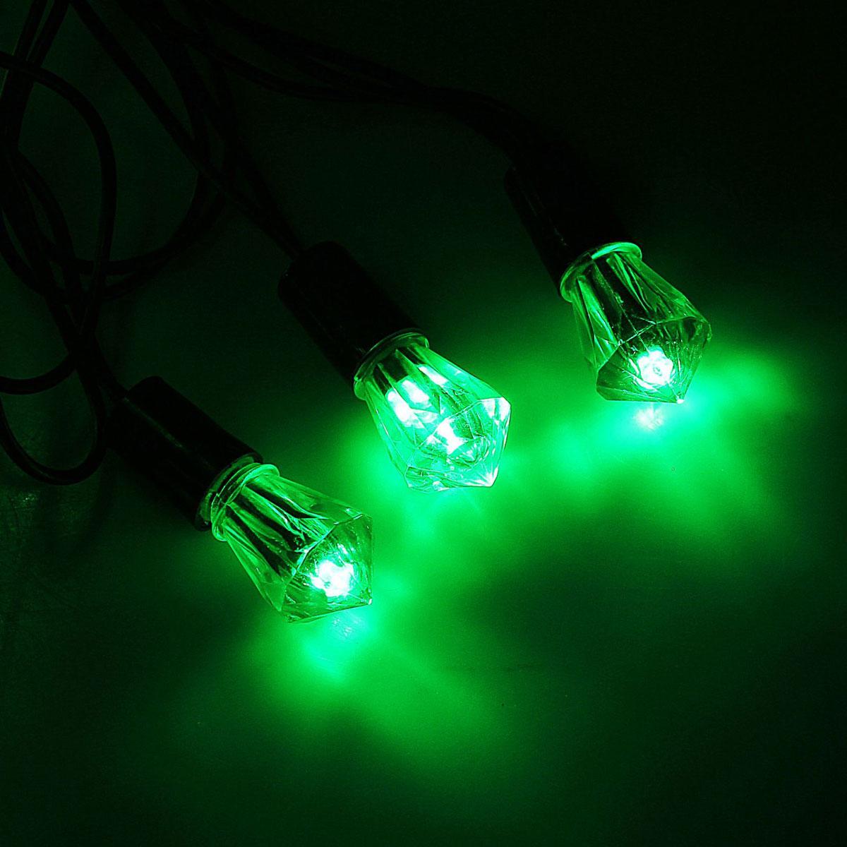 Гирлянда светодиодная Luazon Метраж. Хрусталь, уличная с насадкой, фиксинг, 40 ламп, 220 V, 5 м, цвет: зеленый. 1080066500-031Светодиодные гирлянды, ленты и т.д. — это отличный вариант для новогоднего оформления интерьера или фасада. С их помощью помещение любого размера можно превратить в праздничный зал, а внешние элементы зданий, украшенные ими, мгновенно станут напоминать очертания сказочного дворца. Такие украшения создают ауру предвкушения чуда. Деревья, фасады, витрины, окна и арки будто специально созданы, чтобы вы украсили их светящимися нитями.