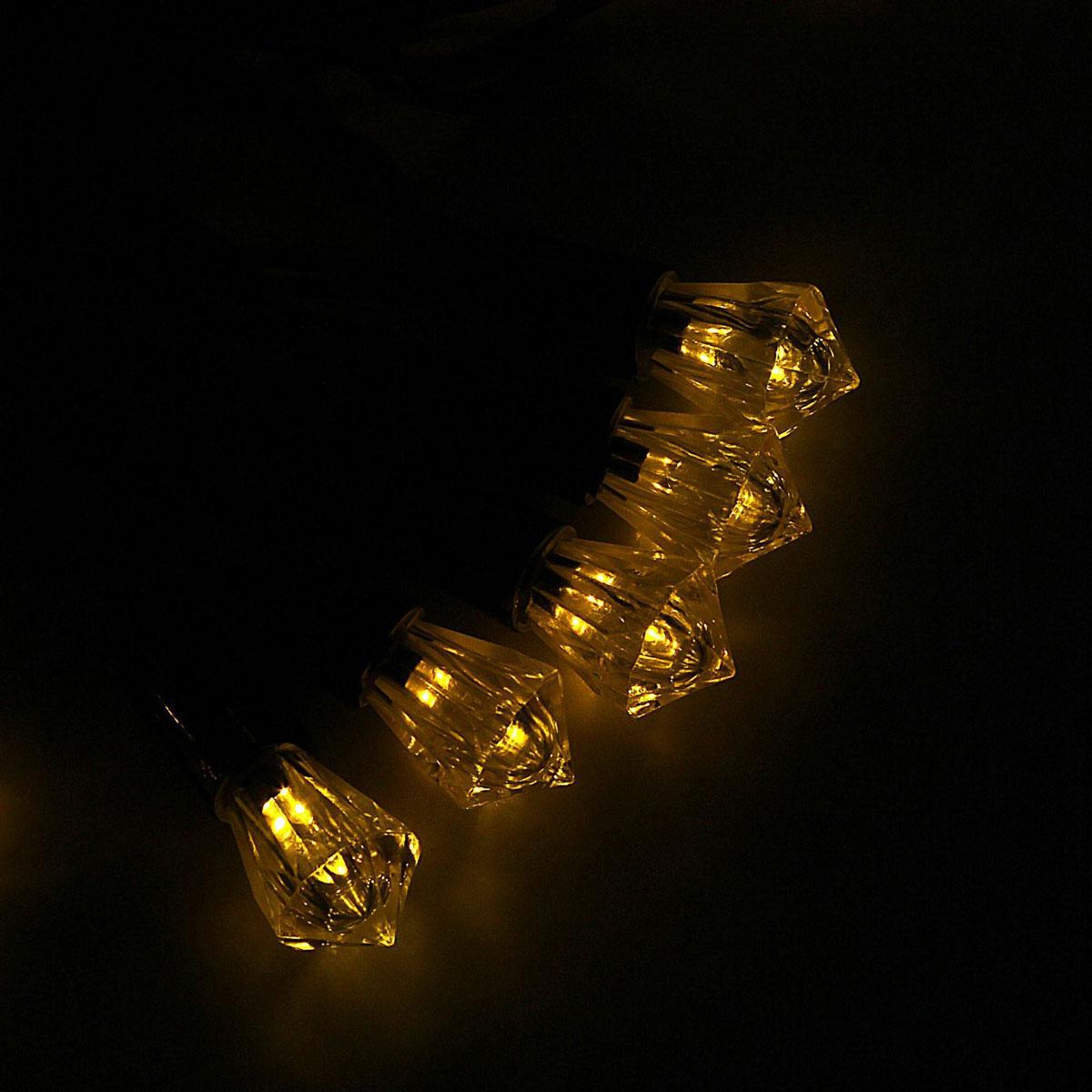 Гирлянда светодиодная Luazon Метраж. Хрусталь, уличная с насадкой, фиксинг, 40 ламп, 220 V, 5 м, цвет: желтый. 10800671080067Светодиодные гирлянды, ленты и т.д. — это отличный вариант для новогоднего оформления интерьера или фасада. С их помощью помещение любого размера можно превратить в праздничный зал, а внешние элементы зданий, украшенные ими, мгновенно станут напоминать очертания сказочного дворца. Такие украшения создают ауру предвкушения чуда. Деревья, фасады, витрины, окна и арки будто специально созданы, чтобы вы украсили их светящимися нитями.