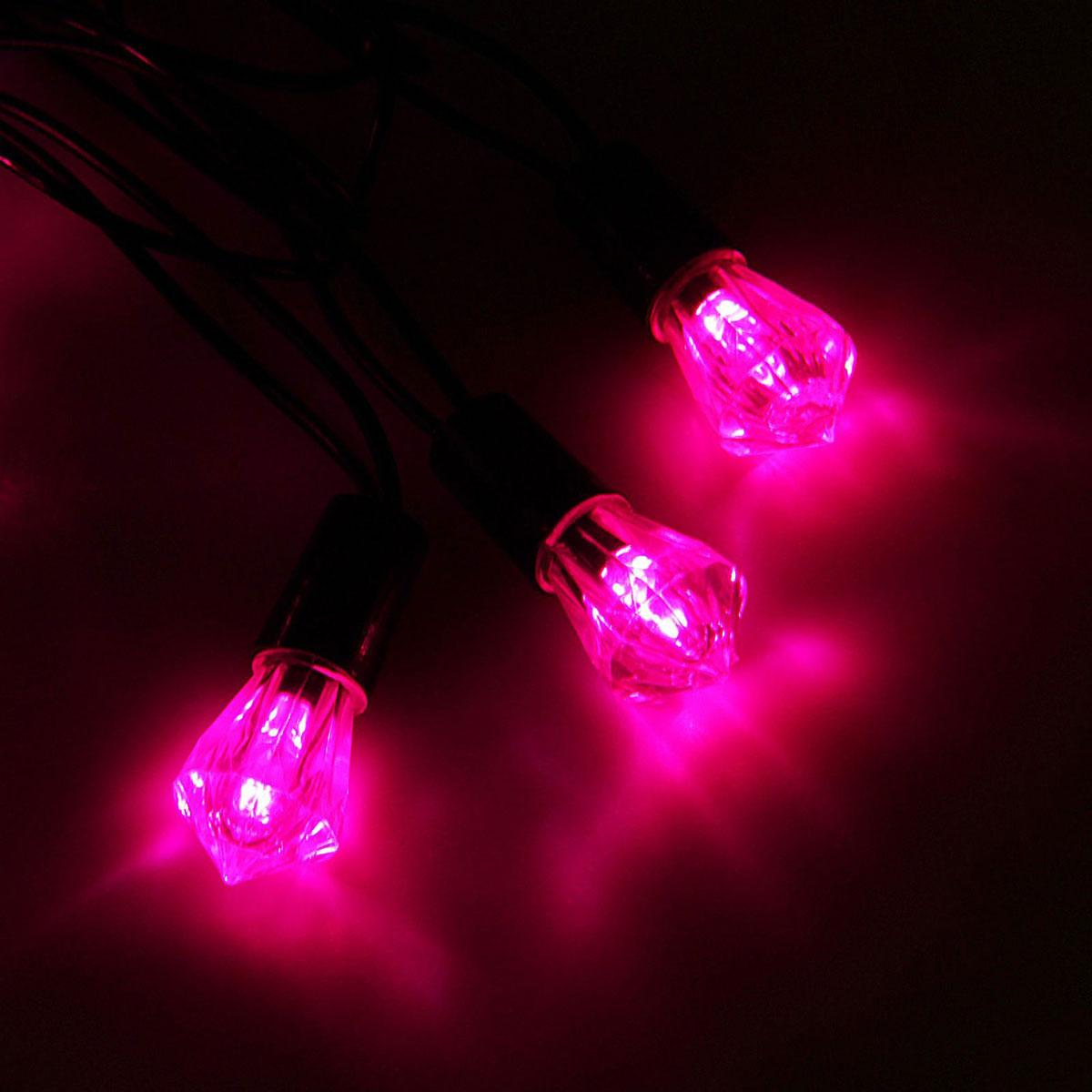 Гирлянда светодиодная Luazon Метраж. Хрусталь, уличная с насадкой, фиксинг, 40 ламп, 220 V, 5 м, цвет: розовый. 10800691080069Светодиодные гирлянды, ленты и т.д. — это отличный вариант для новогоднего оформления интерьера или фасада. С их помощью помещение любого размера можно превратить в праздничный зал, а внешние элементы зданий, украшенные ими, мгновенно станут напоминать очертания сказочного дворца. Такие украшения создают ауру предвкушения чуда. Деревья, фасады, витрины, окна и арки будто специально созданы, чтобы вы украсили их светящимися нитями.