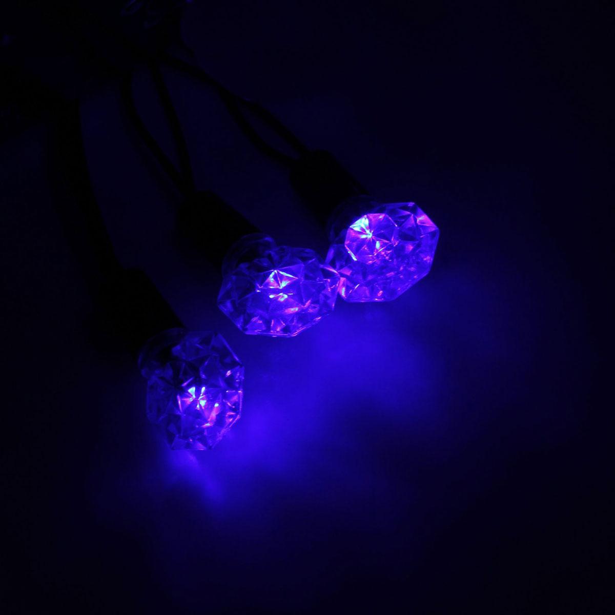 Гирлянда светодиодная Luazon Метраж. Грани, уличная с насадкой, фиксинг, 40 ламп, 220 V, 5 м, цвет: синий. 10800731080073Светодиодные гирлянды, ленты и т.д. — это отличный вариант для новогоднего оформления интерьера или фасада. С их помощью помещение любого размера можно превратить в праздничный зал, а внешние элементы зданий, украшенные ими, мгновенно станут напоминать очертания сказочного дворца. Такие украшения создают ауру предвкушения чуда. Деревья, фасады, витрины, окна и арки будто специально созданы, чтобы вы украсили их светящимися нитями.