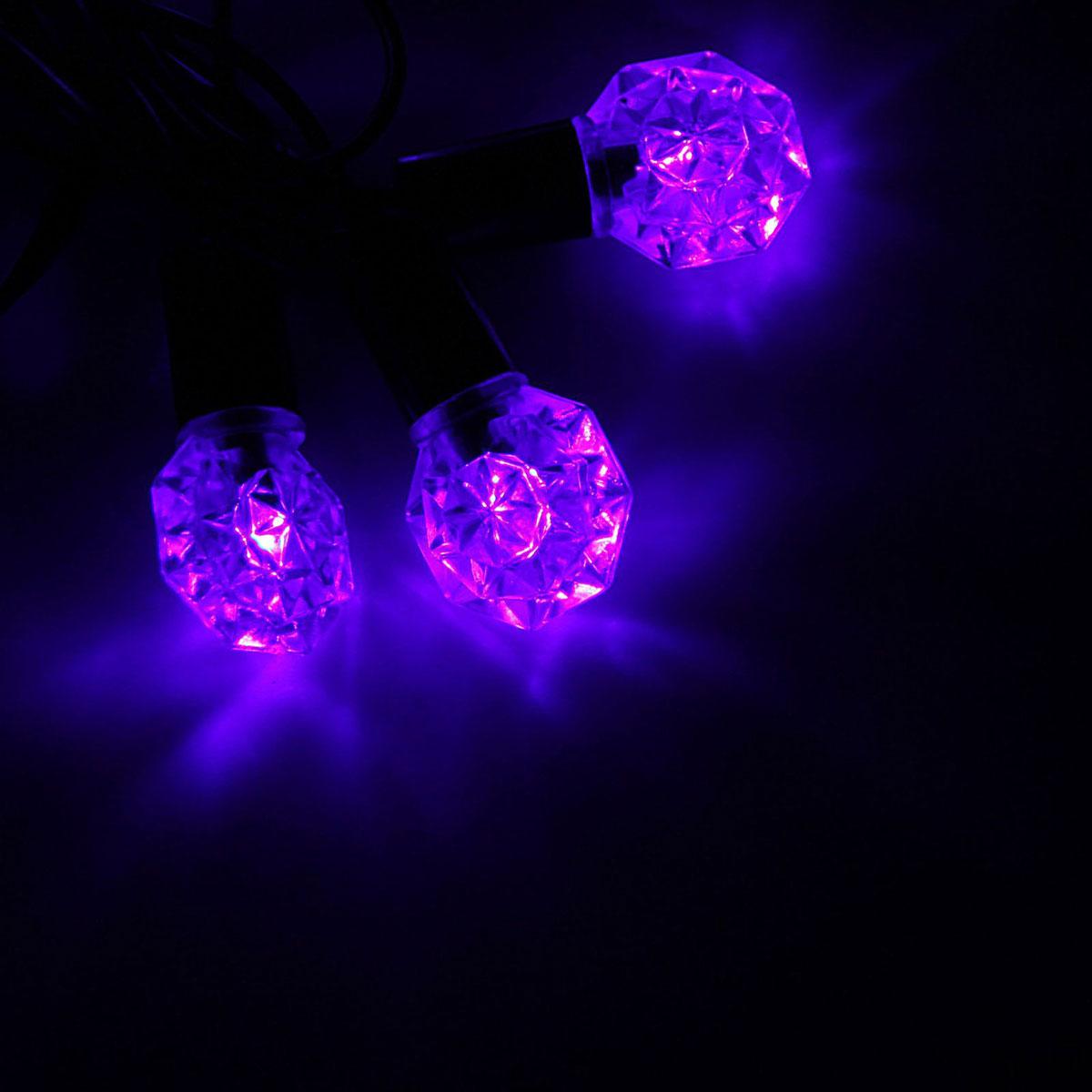 Гирлянда светодиодная Luazon Метраж. Грани, уличная с насадкой, фиксинг, 40 ламп, 220 V, 5 м, цвет: фиолетовый. 10800771080077Светодиодные гирлянды, ленты и т.д. — это отличный вариант для новогоднего оформления интерьера или фасада. С их помощью помещение любого размера можно превратить в праздничный зал, а внешние элементы зданий, украшенные ими, мгновенно станут напоминать очертания сказочного дворца. Такие украшения создают ауру предвкушения чуда. Деревья, фасады, витрины, окна и арки будто специально созданы, чтобы вы украсили их светящимися нитями.