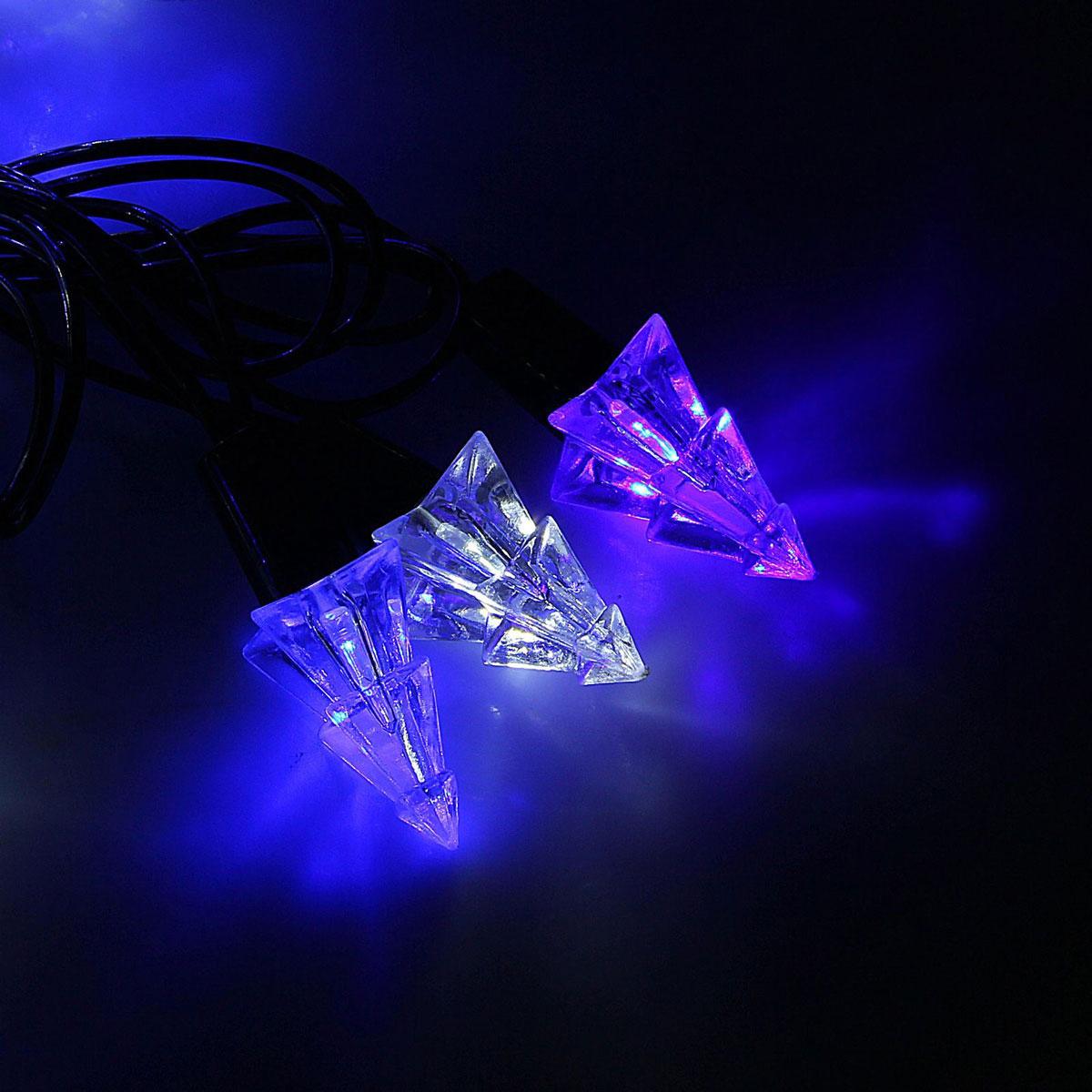 Гирлянда светодиодная Luazon Метраж. Елка маленькая, уличная с насадкой, моргает, 40 ламп, 220 V, 5 м, цвет: синий. 1080088