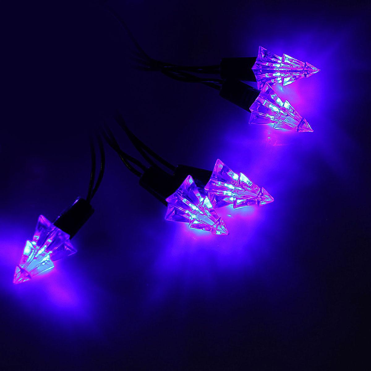 Гирлянда светодиодная Luazon Метраж. Елка маленькая, уличная с насадкой, 8 режимов, 40 ламп, 220 V, 5 м, цвет: синий. 10800911080091Светодиодные гирлянды, ленты и т.д. — это отличный вариант для новогоднего оформления интерьера или фасада. С их помощью помещение любого размера можно превратить в праздничный зал, а внешние элементы зданий, украшенные ими, мгновенно станут напоминать очертания сказочного дворца. Такие украшения создают ауру предвкушения чуда. Деревья, фасады, витрины, окна и арки будто специально созданы, чтобы вы украсили их светящимися нитями.