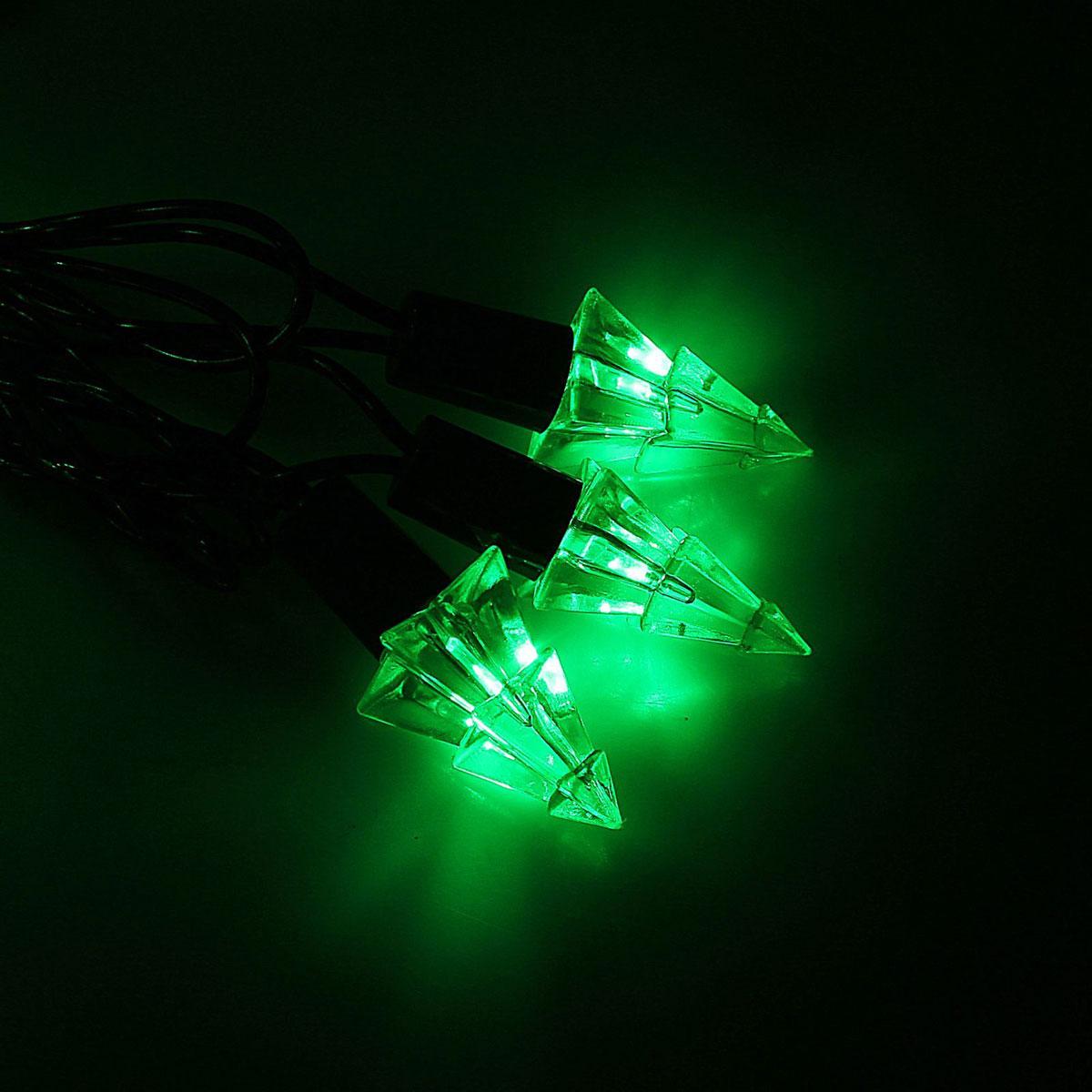 Гирлянда светодиодная Luazon Метраж. Елка маленькая, уличная с насадкой, 8 режимов, 40 ламп, 220 V, 5 м, цвет: зеленый. 10800931080093Светодиодные гирлянды, ленты и т.д. — это отличный вариант для новогоднего оформления интерьера или фасада. С их помощью помещение любого размера можно превратить в праздничный зал, а внешние элементы зданий, украшенные ими, мгновенно станут напоминать очертания сказочного дворца. Такие украшения создают ауру предвкушения чуда. Деревья, фасады, витрины, окна и арки будто специально созданы, чтобы вы украсили их светящимися нитями.