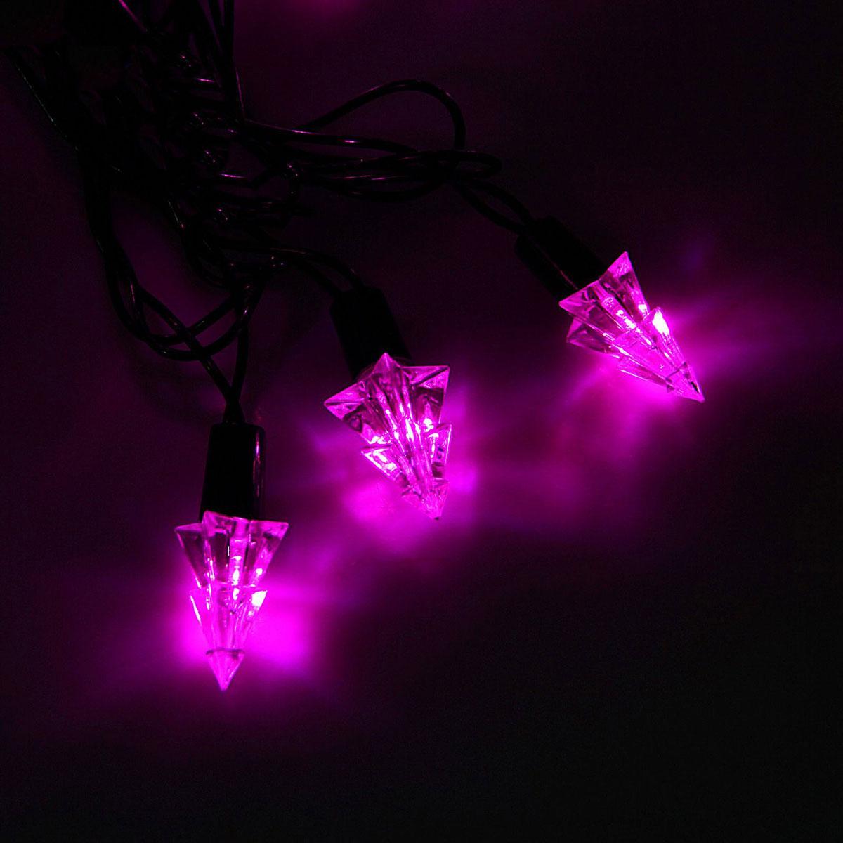 Гирлянда светодиодная Luazon Метраж. Елка маленькая, уличная с насадкой, 8 режимов, 40 ламп, 220 V, 5 м, цвет: розовый. 10800961080096Светодиодные гирлянды, ленты и т.д. — это отличный вариант для новогоднего оформления интерьера или фасада. С их помощью помещение любого размера можно превратить в праздничный зал, а внешние элементы зданий, украшенные ими, мгновенно станут напоминать очертания сказочного дворца. Такие украшения создают ауру предвкушения чуда. Деревья, фасады, витрины, окна и арки будто специально созданы, чтобы вы украсили их светящимися нитями.