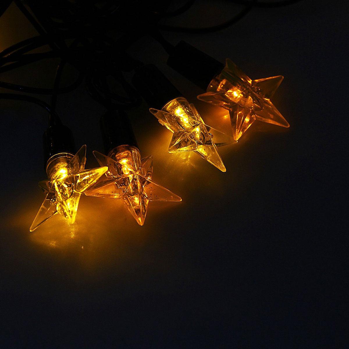Гирлянда светодиодная Luazon Метраж. Звезда средняя, уличная с насадкой, 8 режимов, 40 ламп, 220 V, 5 м, цвет: желтый. 10801031080103Светодиодные гирлянды, ленты и т.д. — это отличный вариант для новогоднего оформления интерьера или фасада. С их помощью помещение любого размера можно превратить в праздничный зал, а внешние элементы зданий, украшенные ими, мгновенно станут напоминать очертания сказочного дворца. Такие украшения создают ауру предвкушения чуда. Деревья, фасады, витрины, окна и арки будто специально созданы, чтобы вы украсили их светящимися нитями.