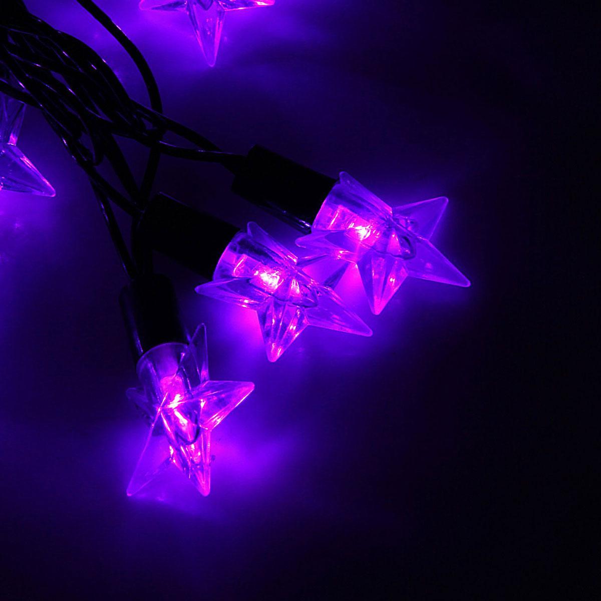 Гирлянда светодиодная Luazon Метраж. Звезда средняя, уличная с насадкой, 8 режимов, 40 ламп, 220 V, 5 м, цвет: фиолетовый. 10801041080104Светодиодные гирлянды, ленты и т.д. — это отличный вариант для новогоднего оформления интерьера или фасада. С их помощью помещение любого размера можно превратить в праздничный зал, а внешние элементы зданий, украшенные ими, мгновенно станут напоминать очертания сказочного дворца. Такие украшения создают ауру предвкушения чуда. Деревья, фасады, витрины, окна и арки будто специально созданы, чтобы вы украсили их светящимися нитями.