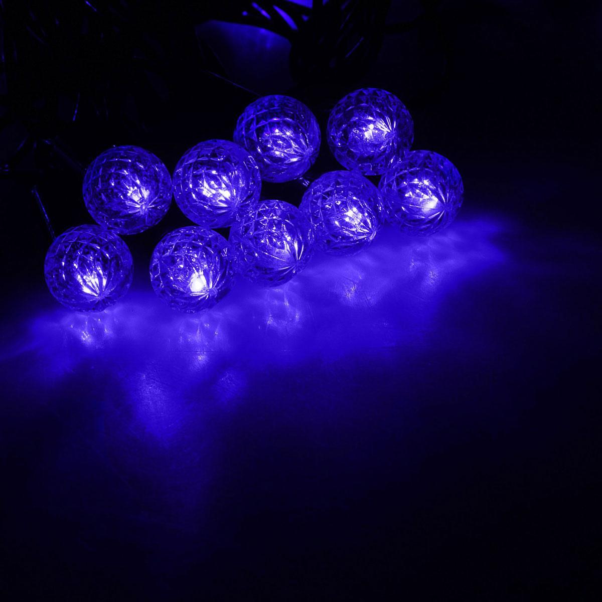 Гирлянда светодиодная Luazon Метраж. Фонарик, уличная с насадкой, 8 режимов, 40 ламп, 220 V, 5 м, цвет: синий. 10801091080109Светодиодные гирлянды, ленты и т.д. — это отличный вариант для новогоднего оформления интерьера или фасада. С их помощью помещение любого размера можно превратить в праздничный зал, а внешние элементы зданий, украшенные ими, мгновенно станут напоминать очертания сказочного дворца. Такие украшения создают ауру предвкушения чуда. Деревья, фасады, витрины, окна и арки будто специально созданы, чтобы вы украсили их светящимися нитями.