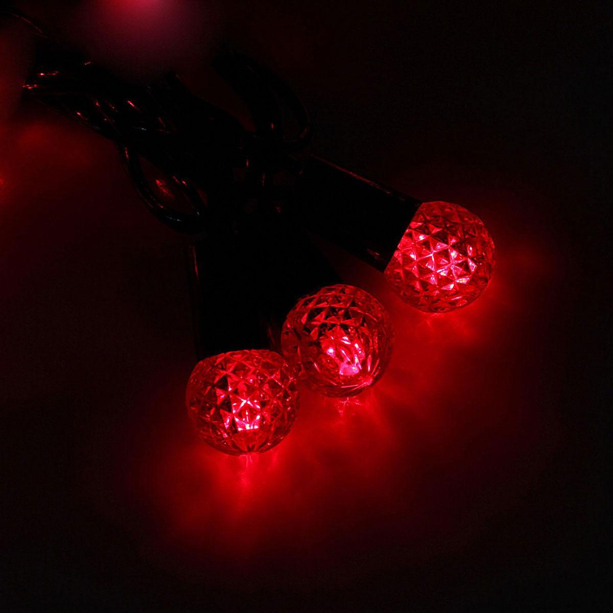 Гирлянда светодиодная Luazon Метраж. Фонарик, уличная с насадкой, 8 режимов, 40 ламп, 220 V, 5 м, цвет: красный. 10801101080110Светодиодные гирлянды, ленты и т.д. — это отличный вариант для новогоднего оформления интерьера или фасада. С их помощью помещение любого размера можно превратить в праздничный зал, а внешние элементы зданий, украшенные ими, мгновенно станут напоминать очертания сказочного дворца. Такие украшения создают ауру предвкушения чуда. Деревья, фасады, витрины, окна и арки будто специально созданы, чтобы вы украсили их светящимися нитями.