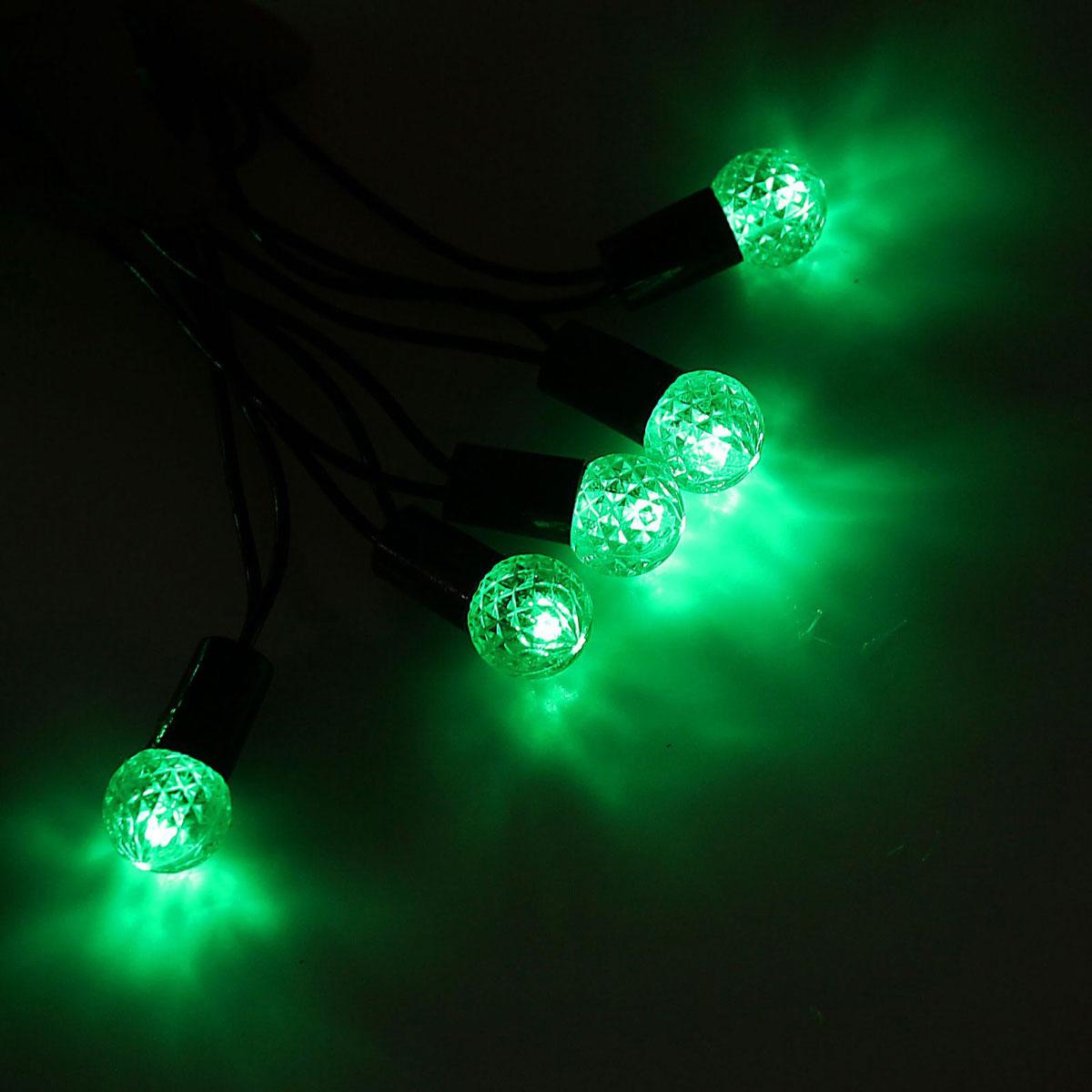 Гирлянда светодиодная Luazon Метраж. Фонарик, уличная с насадкой, 8 режимов, 40 ламп, 220 V, 5 м, цвет: зеленый. 1080111500-044Светодиодные гирлянды, ленты и т.д. — это отличный вариант для новогоднего оформления интерьера или фасада. С их помощью помещение любого размера можно превратить в праздничный зал, а внешние элементы зданий, украшенные ими, мгновенно станут напоминать очертания сказочного дворца. Такие украшения создают ауру предвкушения чуда. Деревья, фасады, витрины, окна и арки будто специально созданы, чтобы вы украсили их светящимися нитями.
