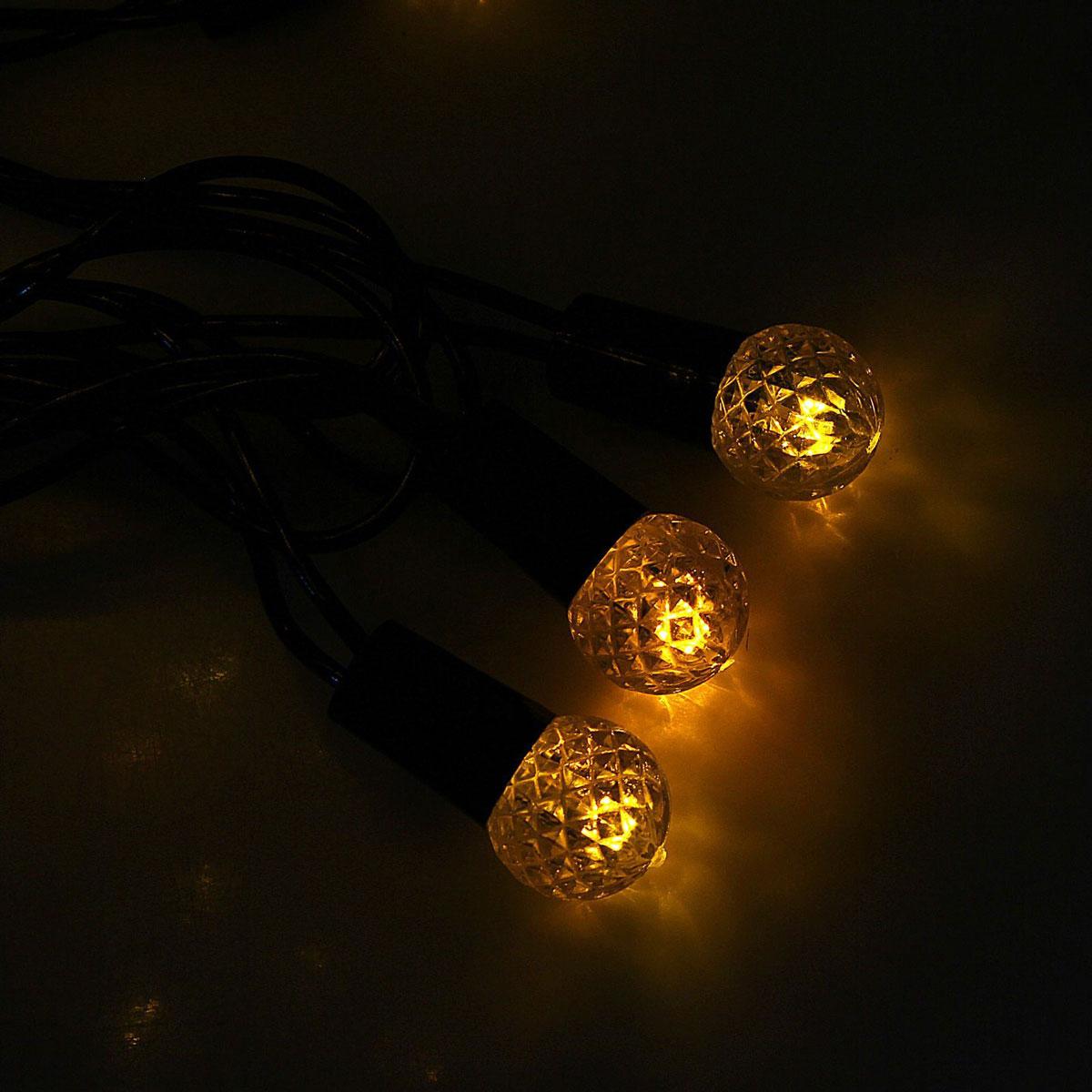 Гирлянда светодиодная Luazon Метраж. Фонарик, уличная с насадкой, 8 режимов, 40 ламп, 220 V, 5 м, цвет: желтый. 10801121080112Светодиодные гирлянды, ленты и т.д. — это отличный вариант для новогоднего оформления интерьера или фасада. С их помощью помещение любого размера можно превратить в праздничный зал, а внешние элементы зданий, украшенные ими, мгновенно станут напоминать очертания сказочного дворца. Такие украшения создают ауру предвкушения чуда. Деревья, фасады, витрины, окна и арки будто специально созданы, чтобы вы украсили их светящимися нитями.