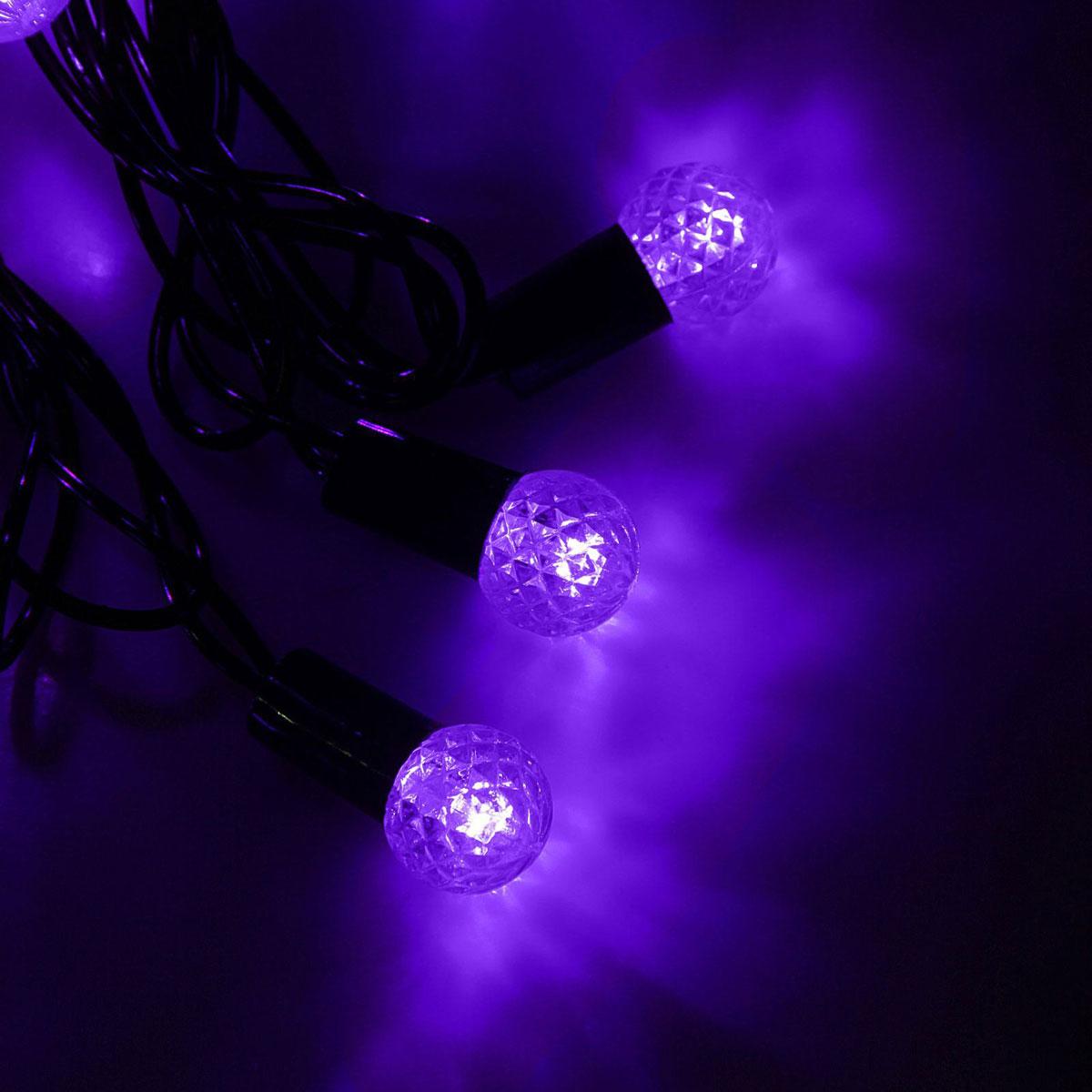 Гирлянда светодиодная Luazon Метраж. Фонарик, уличная с насадкой, 8 режимов, 40 ламп, 220 V, 5 м, цвет: фиолетовый. 10801131080113Светодиодные гирлянды, ленты и т.д. — это отличный вариант для новогоднего оформления интерьера или фасада. С их помощью помещение любого размера можно превратить в праздничный зал, а внешние элементы зданий, украшенные ими, мгновенно станут напоминать очертания сказочного дворца. Такие украшения создают ауру предвкушения чуда. Деревья, фасады, витрины, окна и арки будто специально созданы, чтобы вы украсили их светящимися нитями.