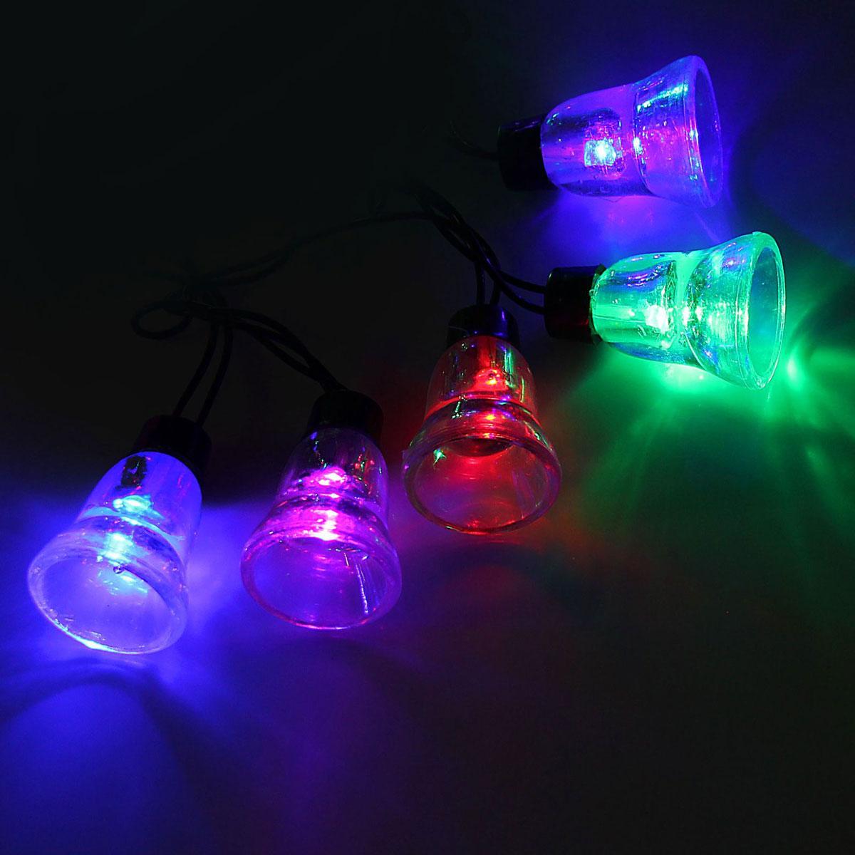 Гирлянда светодиодная Luazon Метраж. Колокол, уличная с насадкой, моргает, 30 ламп, 220 V, 5 м, цвет: мультиколор. 10801161080070Светодиодные гирлянды, ленты и т.д. — это отличный вариант для новогоднего оформления интерьера или фасада. С их помощью помещение любого размера можно превратить в праздничный зал, а внешние элементы зданий, украшенные ими, мгновенно станут напоминать очертания сказочного дворца. Такие украшения создают ауру предвкушения чуда. Деревья, фасады, витрины, окна и арки будто специально созданы, чтобы вы украсили их светящимися нитями.