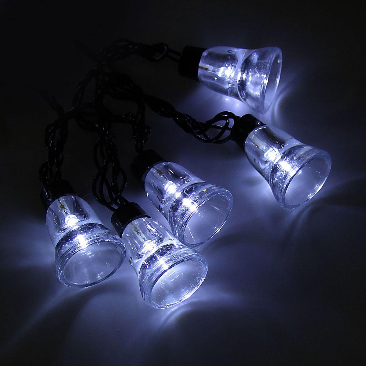 Гирлянда светодиодная Luazon Метраж. Колокол, уличная с насадкой, 8 режимов, 30 ламп, 220 V, 5 м, цвет: белый. 10801171080117Светодиодные гирлянды, ленты и т.д. — это отличный вариант для новогоднего оформления интерьера или фасада. С их помощью помещение любого размера можно превратить в праздничный зал, а внешние элементы зданий, украшенные ими, мгновенно станут напоминать очертания сказочного дворца. Такие украшения создают ауру предвкушения чуда. Деревья, фасады, витрины, окна и арки будто специально созданы, чтобы вы украсили их светящимися нитями.