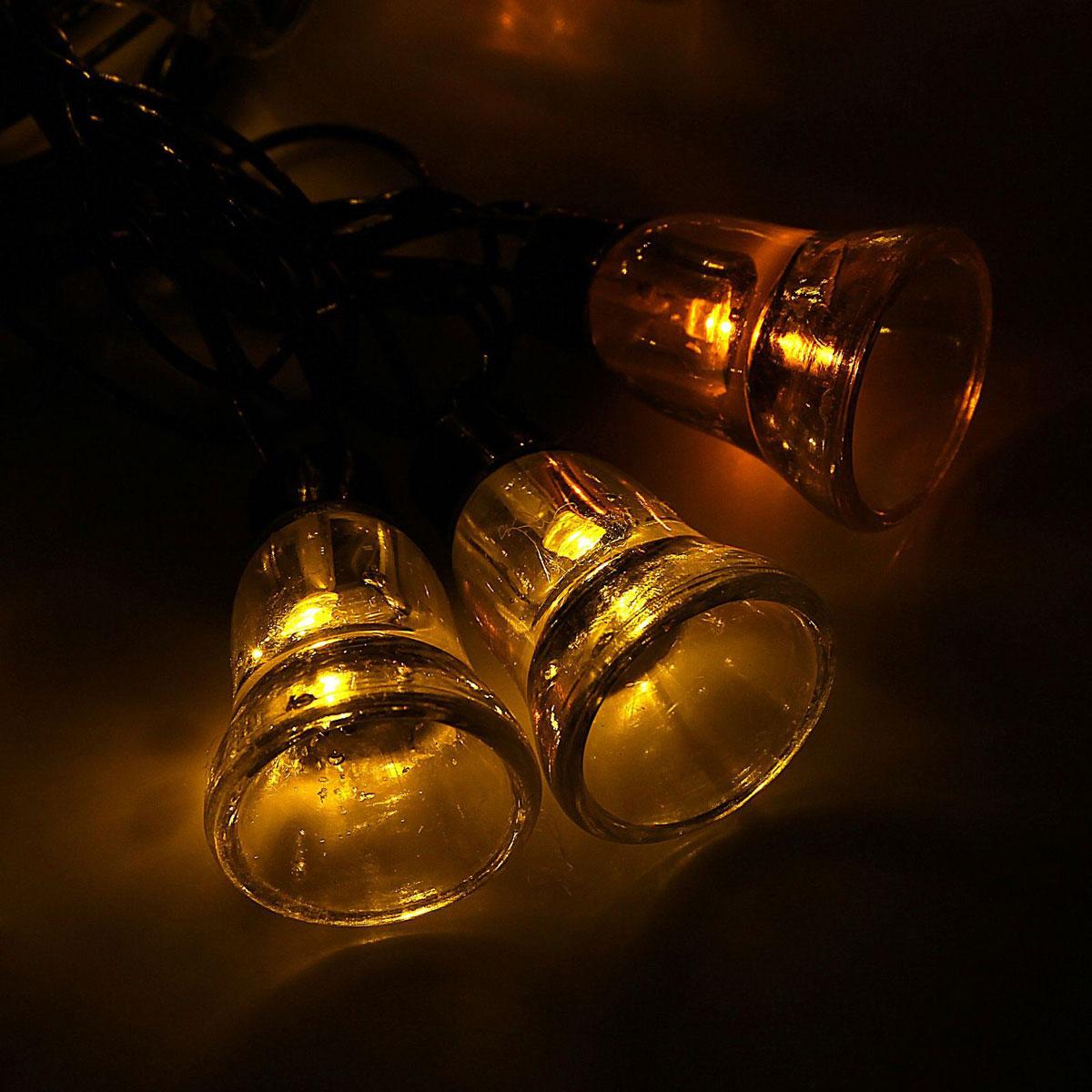 Гирлянда светодиодная Luazon Метраж. Колокол, уличная с насадкой, 8 режимов, 30 ламп, 220 V, 5 м, цвет: желтый. 10801211080121Светодиодные гирлянды, ленты и т.д. — это отличный вариант для новогоднего оформления интерьера или фасада. С их помощью помещение любого размера можно превратить в праздничный зал, а внешние элементы зданий, украшенные ими, мгновенно станут напоминать очертания сказочного дворца. Такие украшения создают ауру предвкушения чуда. Деревья, фасады, витрины, окна и арки будто специально созданы, чтобы вы украсили их светящимися нитями.