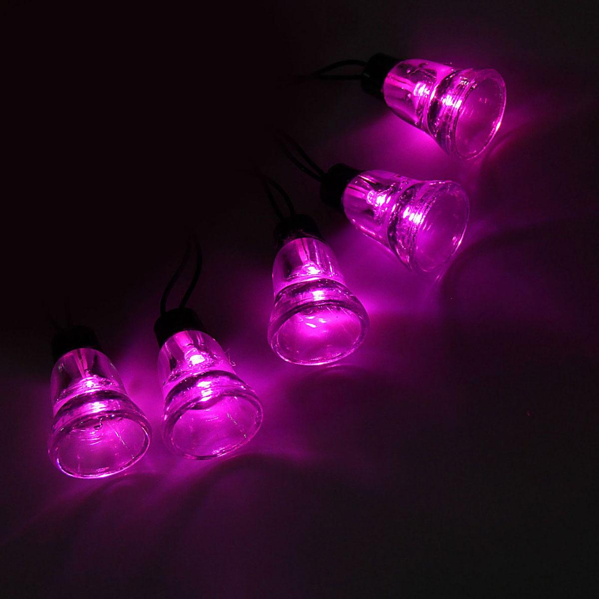 Гирлянда светодиодная Luazon  Метраж. Колокол , уличная с насадкой, 8 режимов, 30 ламп, 220 V, 5 м, цвет: розовый. 1080123 -  Гирлянды и светильники