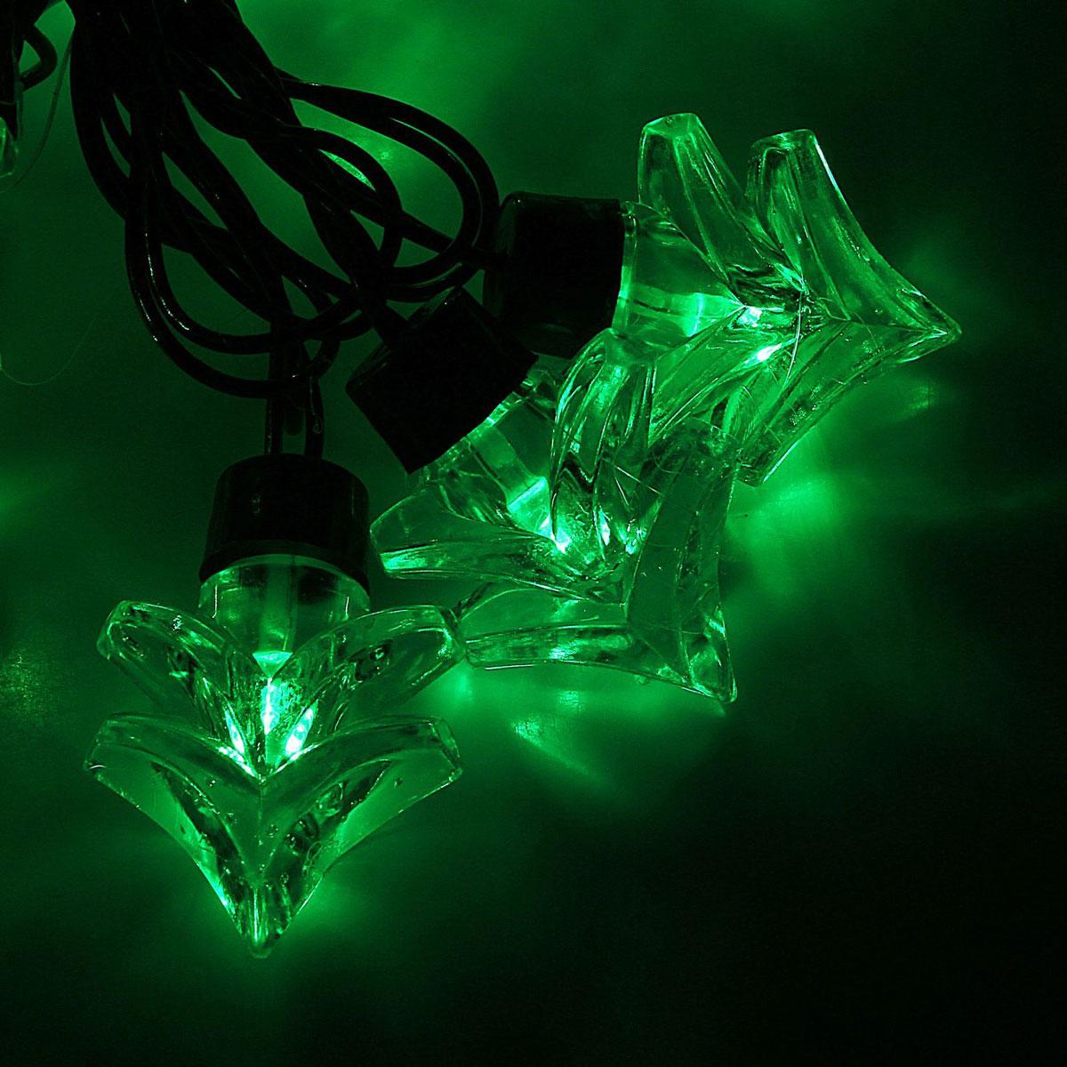 Гирлянда светодиодная Luazon Метраж. Ель большая, уличная с насадкой, 8 режимов, 30 ламп, 220 V, 5 м, цвет: зеленый. 1080129 гирлянда luazon дождь 2m 6m multicolor 671678