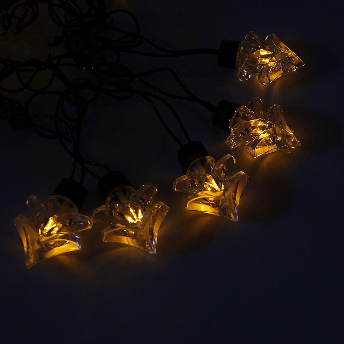 Гирлянда светодиодная Luazon Метраж. Ель большая, уличная с насадкой, 8 режимов, 30 ламп, 220 V, 5 м, цвет: желтый. 10801301080130Светодиодные гирлянды, ленты и т.д. — это отличный вариант для новогоднего оформления интерьера или фасада. С их помощью помещение любого размера можно превратить в праздничный зал, а внешние элементы зданий, украшенные ими, мгновенно станут напоминать очертания сказочного дворца. Такие украшения создают ауру предвкушения чуда. Деревья, фасады, витрины, окна и арки будто специально созданы, чтобы вы украсили их светящимися нитями.