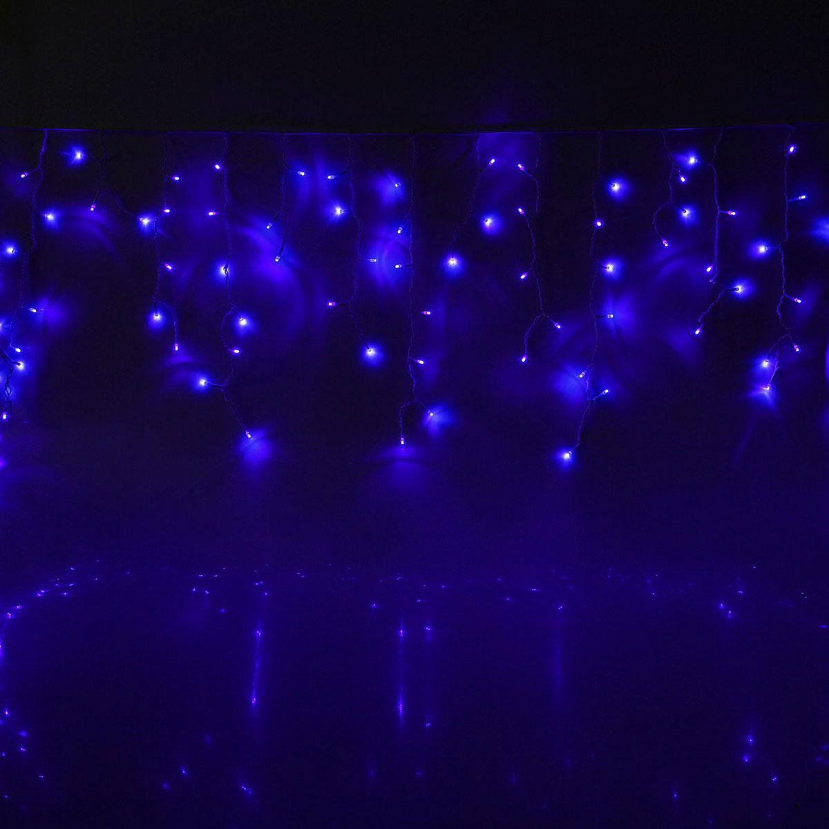 Гирлянда светодиодная Luazon Бахрома, уличная, 160 ламп, 220 V, цвет: синий, 3 х 0,6 м. 10801751080175Светодиодные гирлянды, ленты и т.д — это отличный вариант для новогоднего оформления интерьера или фасада. С их помощью помещение любого размера можно превратить в праздничный зал, а внешние элементы зданий, украшенные ими, мгновенно станут напоминать очертания сказочного дворца. Такие украшения создают ауру предвкушения чуда. Деревья, фасады, витрины, окна и арки будто специально созданы, чтобы вы украсили их светящимися нитями.