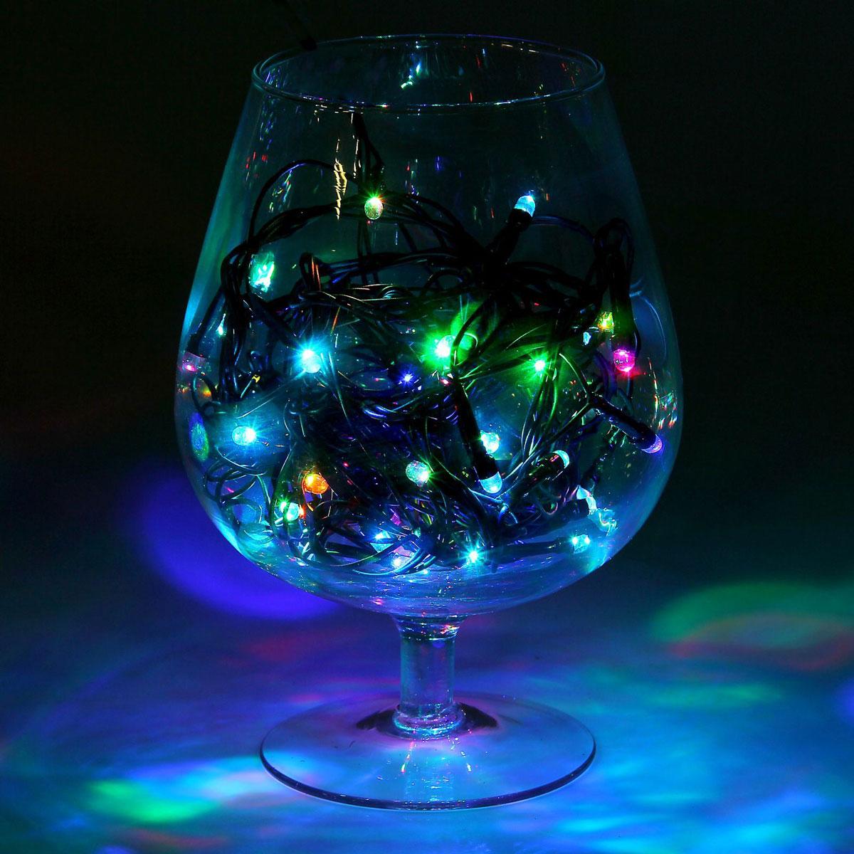 Гирлянда светодиодная Luazon Метраж, моргает, 50 ламп, 220 V, 5,2 м, цвет: мультиколор. 1080348 гирлянда luazon метраж 5 2m led 50 220v multicolor rgb 1080348