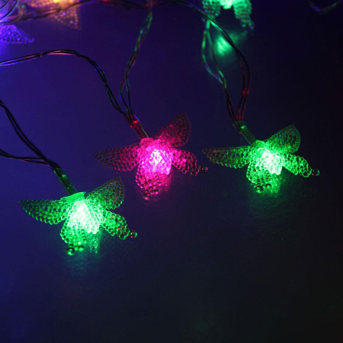 Гирлянда светодиодная Luazon Метраж. Бабочка в крапинку, 20 ламп, 5 V, длина 3 м1080378Светодиодные гирлянды и ленты — это отличный вариант для новогоднего оформления интерьера или фасада. С их помощью помещение любого размера можно превратить в праздничный зал, а внешние элементы зданий, украшенные ими, мгновенно станут напоминать очертания сказочного дворца. Такие украшения создают ауру предвкушения чуда. Деревья, фасады, витрины, окна и арки будто специально созданы, чтобы вы украсили их светящимися нитями.
